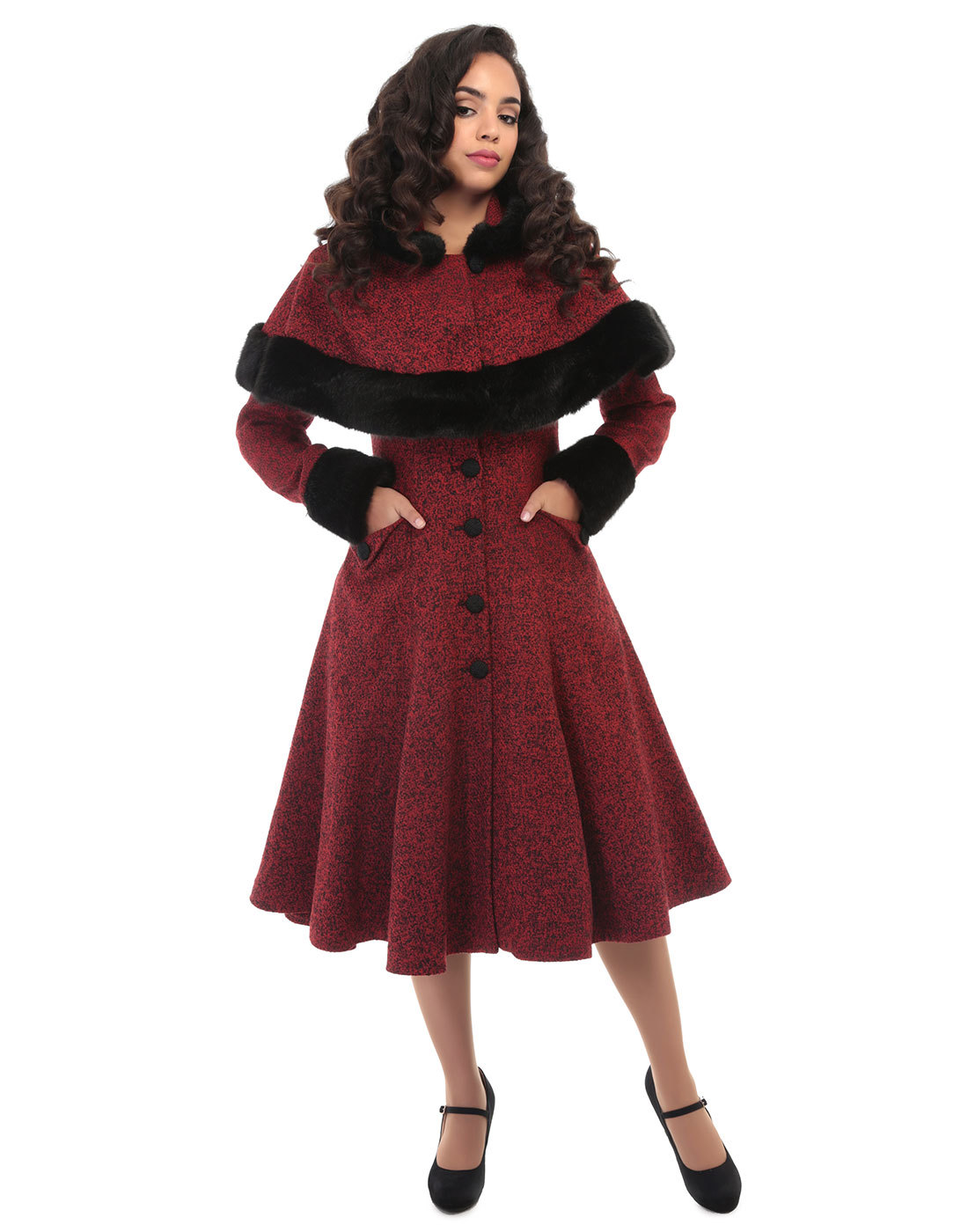 COLLECTIF Anoushka Princess Retro 1950s Mouline Coat and ...