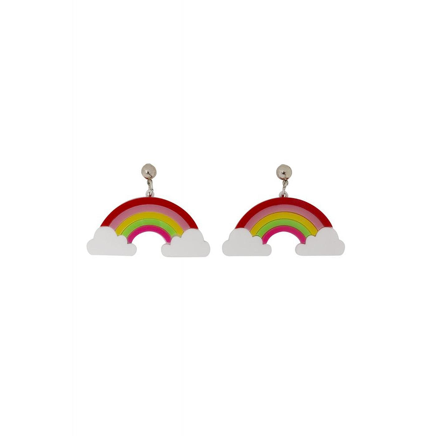 +Rainbow COLLECTIF Vintage Kitsch Acrylic Earrings