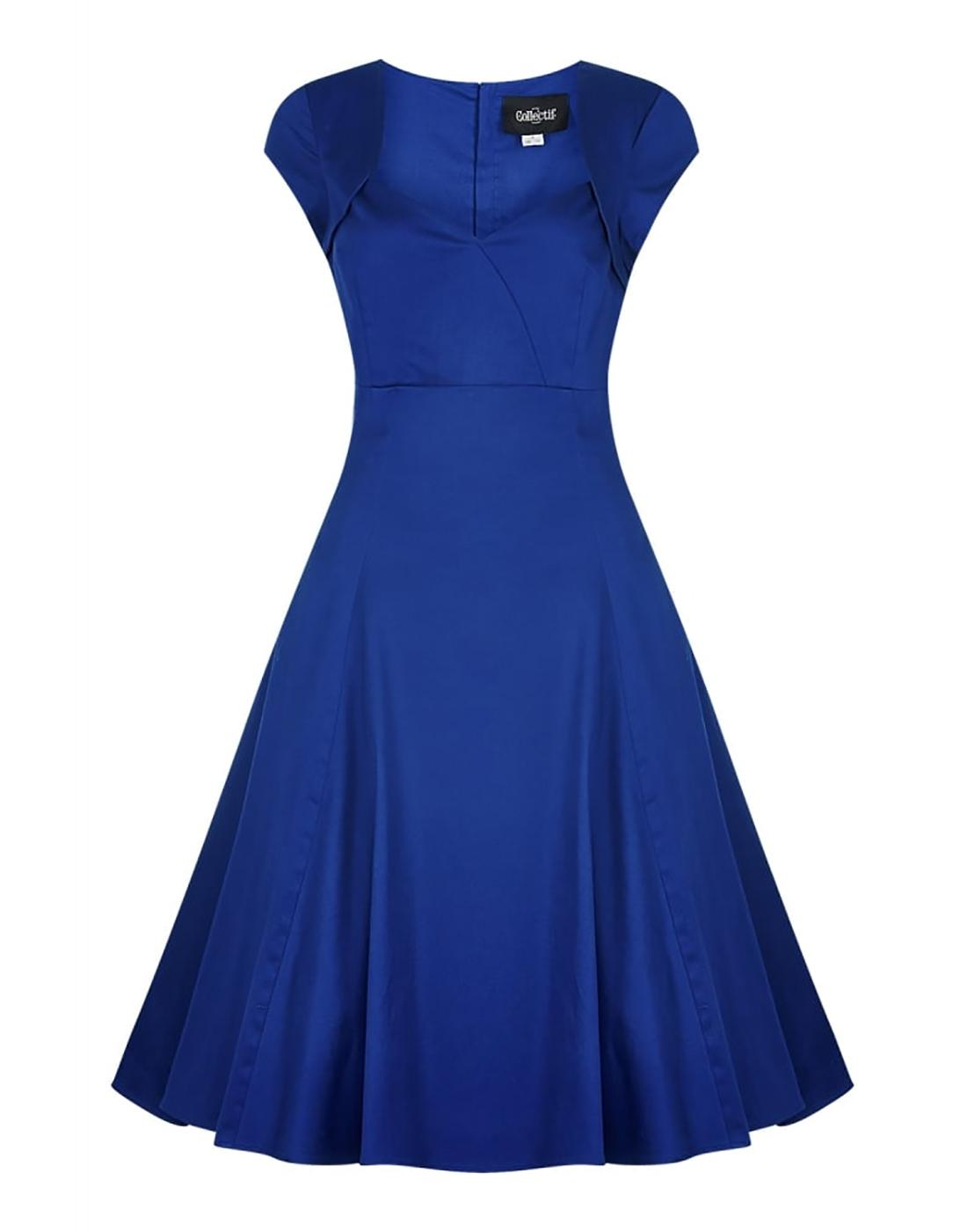 Regina COLLECTIF Retro 50s Vintage Doll Dress Blue