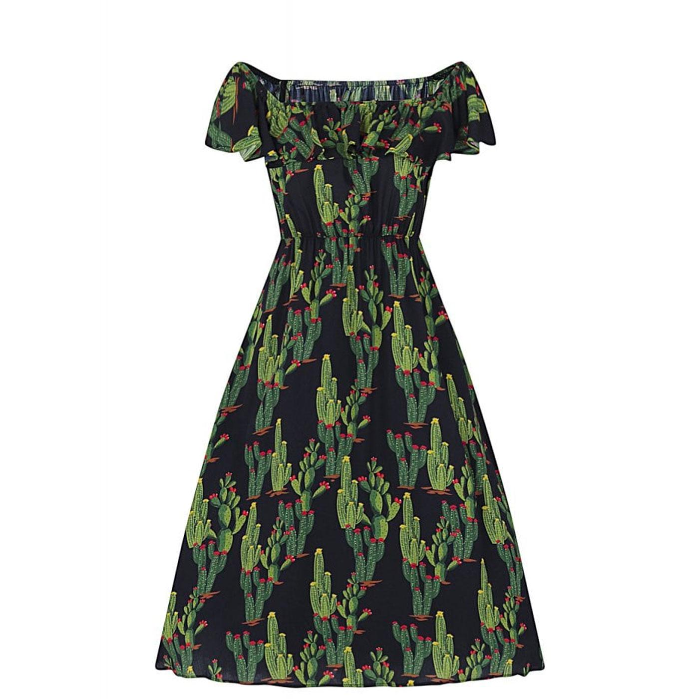 Ronda COLLECTIF Vintage Cactus Print Swing Dress