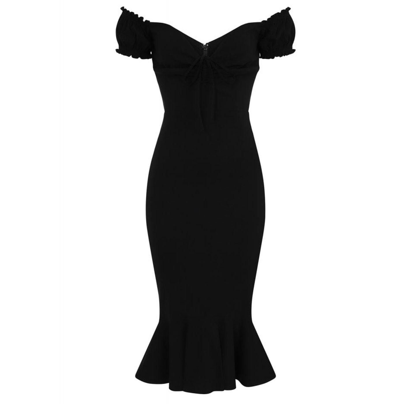 Sasha COLLECTIF Retro 50's Fishtail Wiggle Dress B