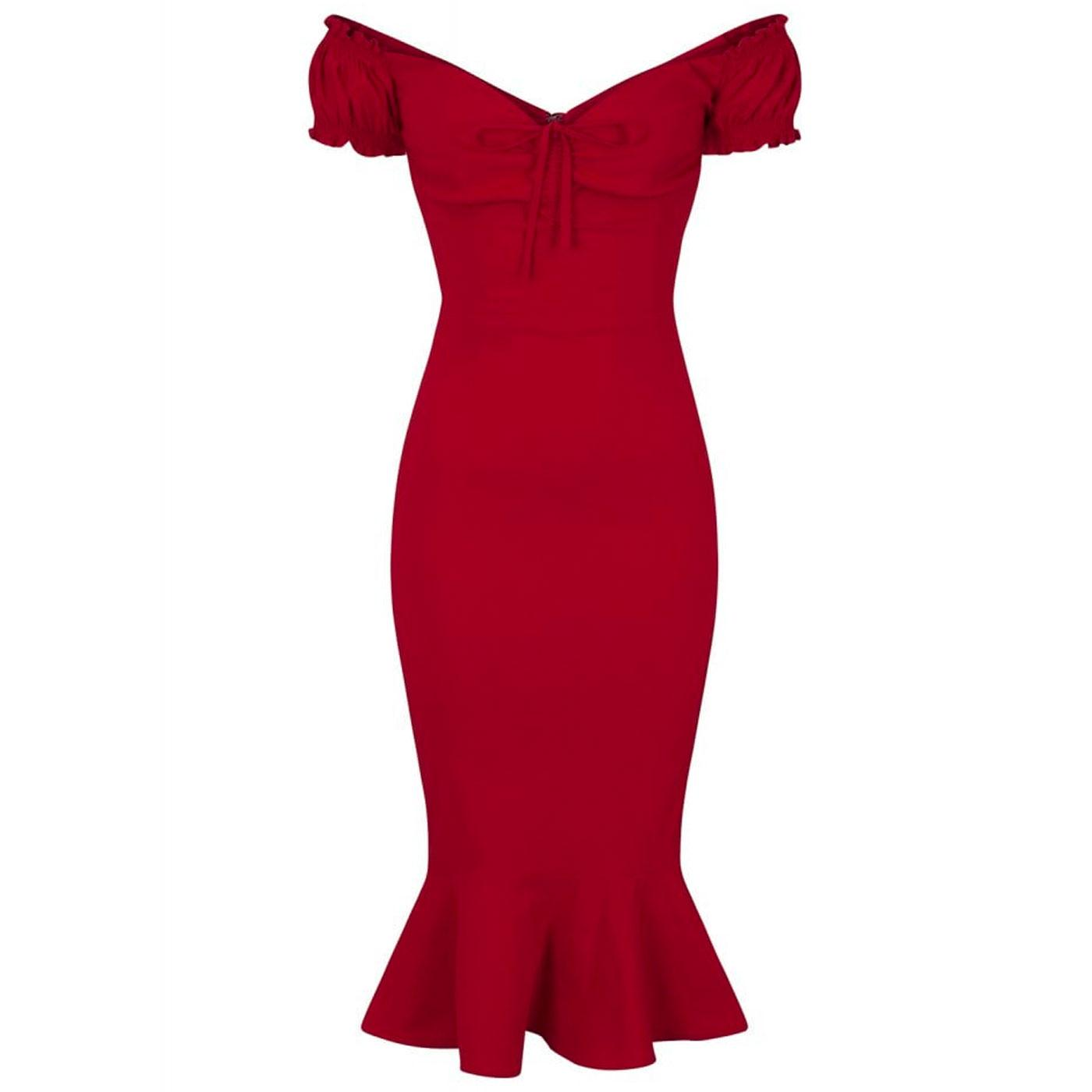 Sasha COLLECTIF Retro 1950's Fishtail Wiggle Dress