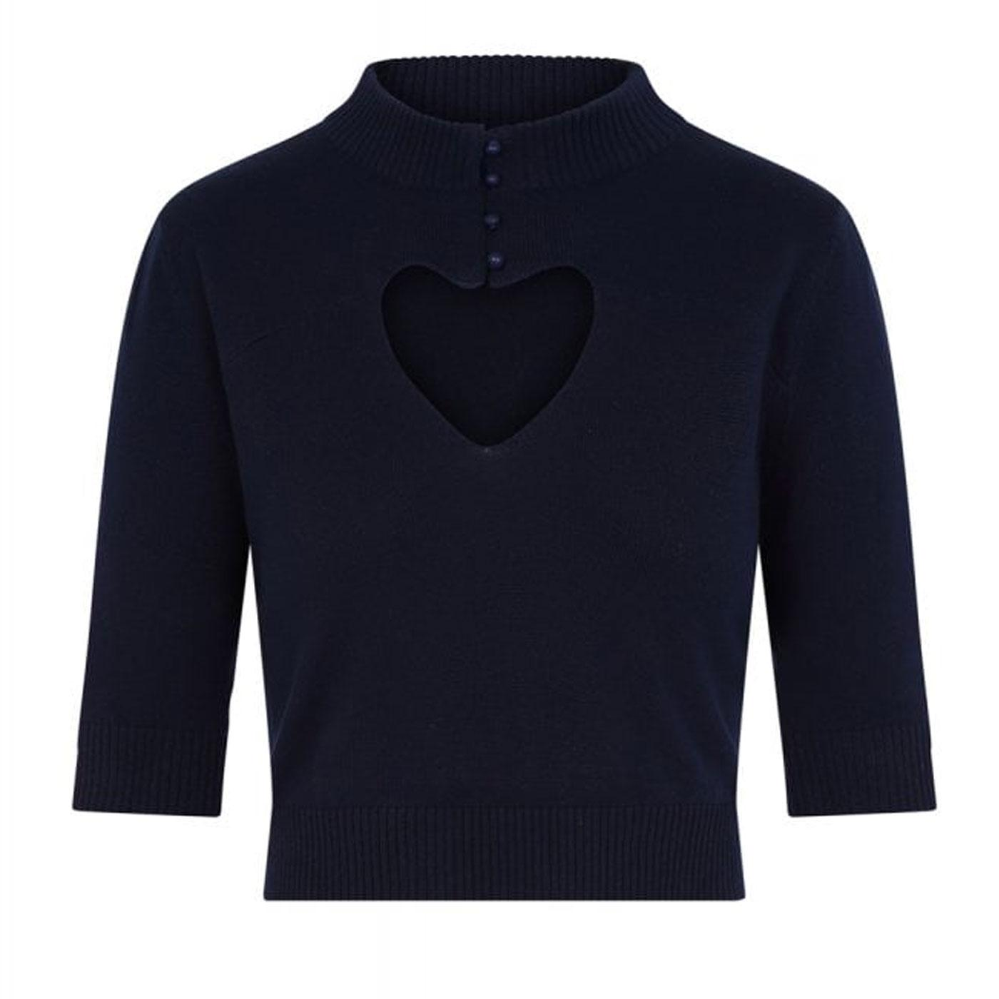 Shirley COLLECTIF Vintage Cut Out Heart Jumper