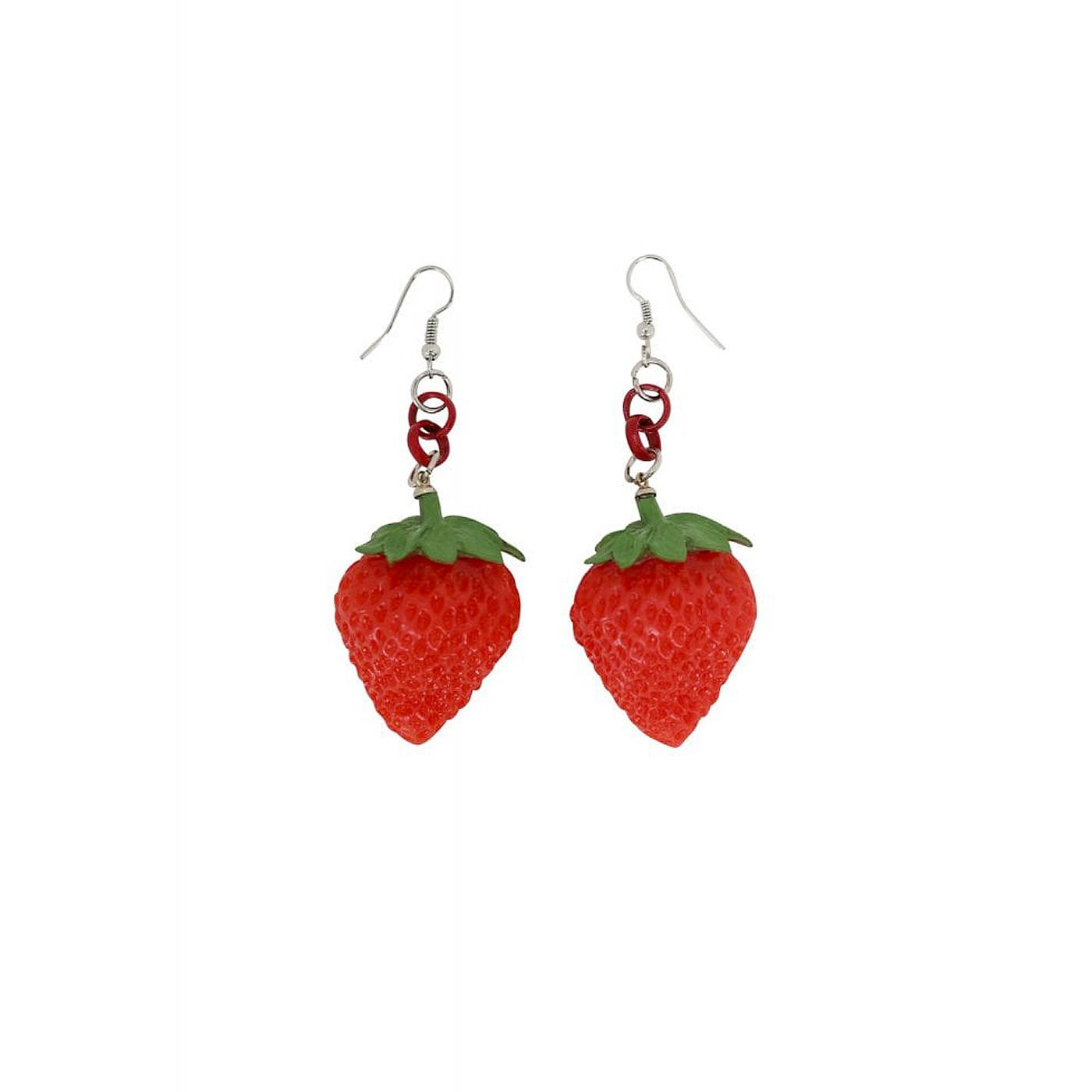+ Lily 40s COLLECTIF Retro 3D Strawberry Earrings