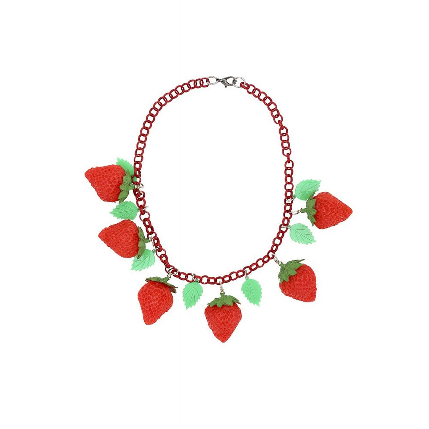 Lily 40s COLLECTIF Retro 3D Strawberry Necklace