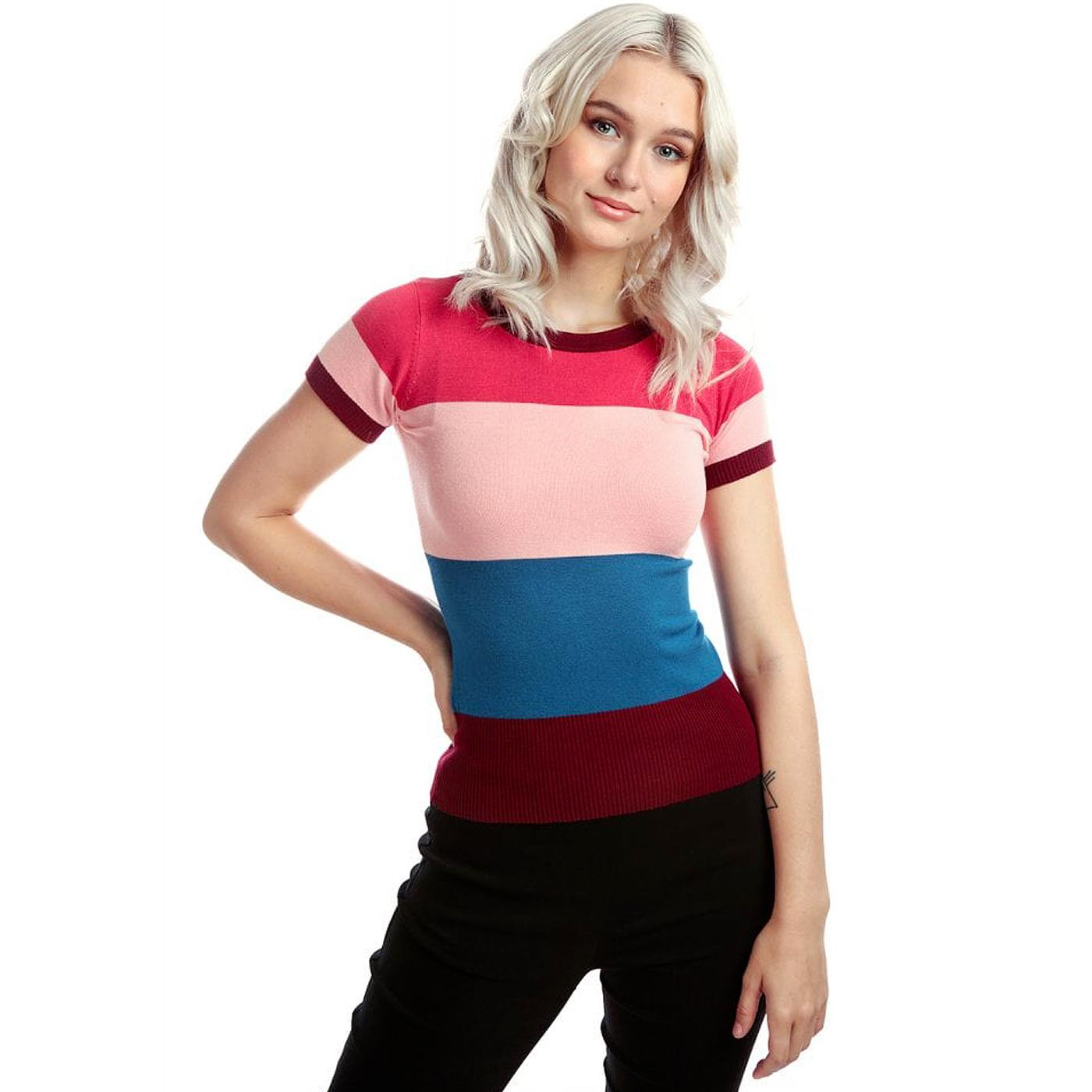 Sydney BRIGHT & BEAUTIFUL Striped Jumper Pink