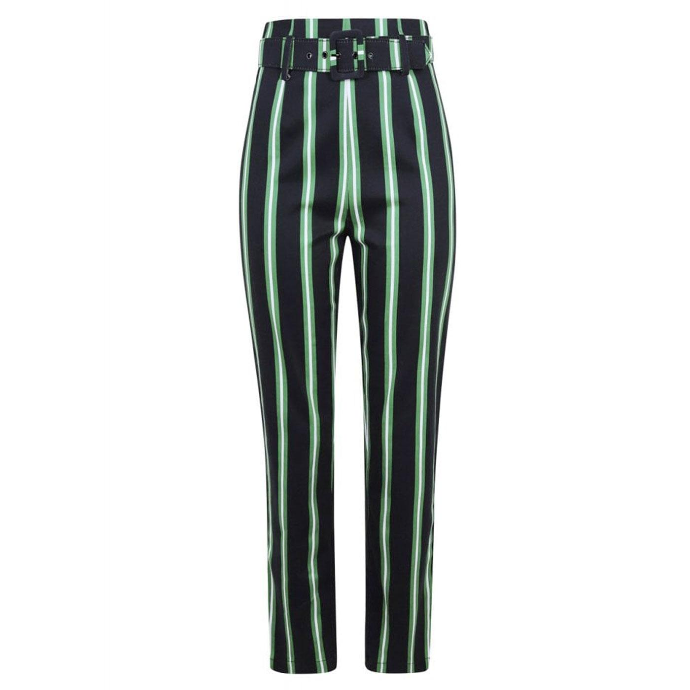 Thea COLLECTIF Witch Stripes Cigarette Trousers