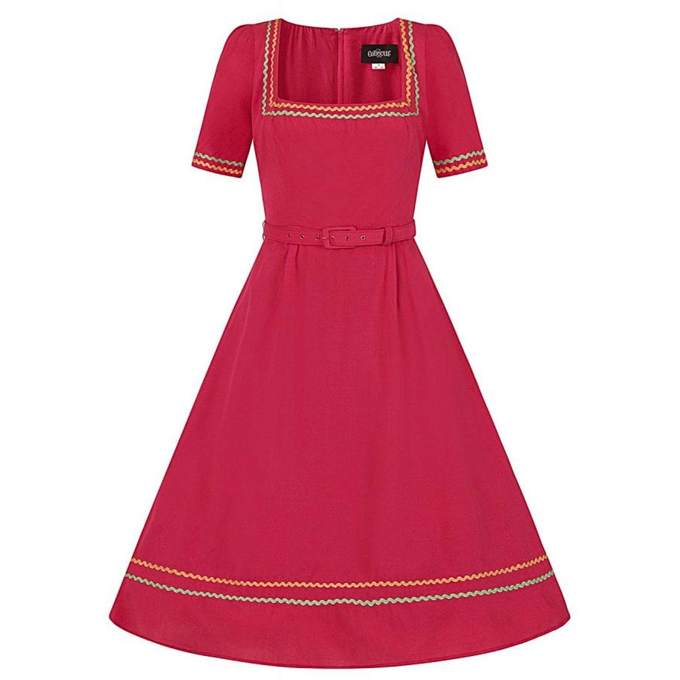 Tilda COLLECTIF Retro 50s Flared Dress in Red