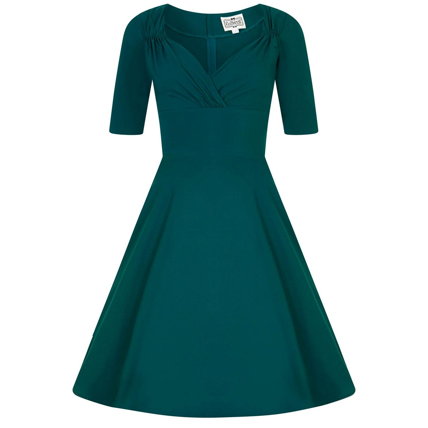 Trixie COLLECTIF Retro 50s Vintage Doll Dress Teal