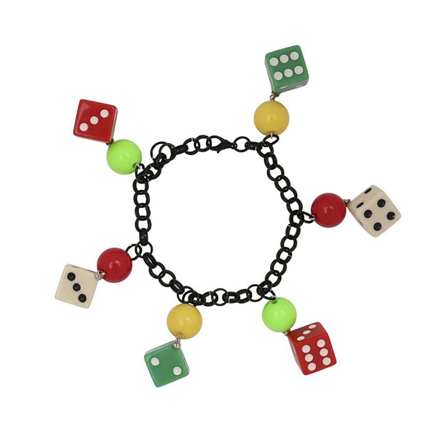 Vegas 40's Dices COLLECTIF Vintage Dice Bracelet