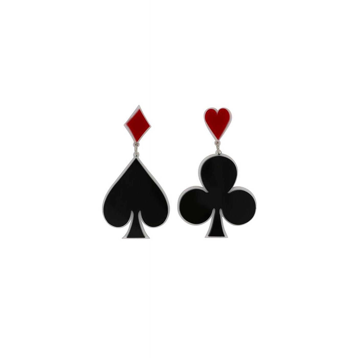 + Vegas Calling COLLECTIF Card Suite Earrings