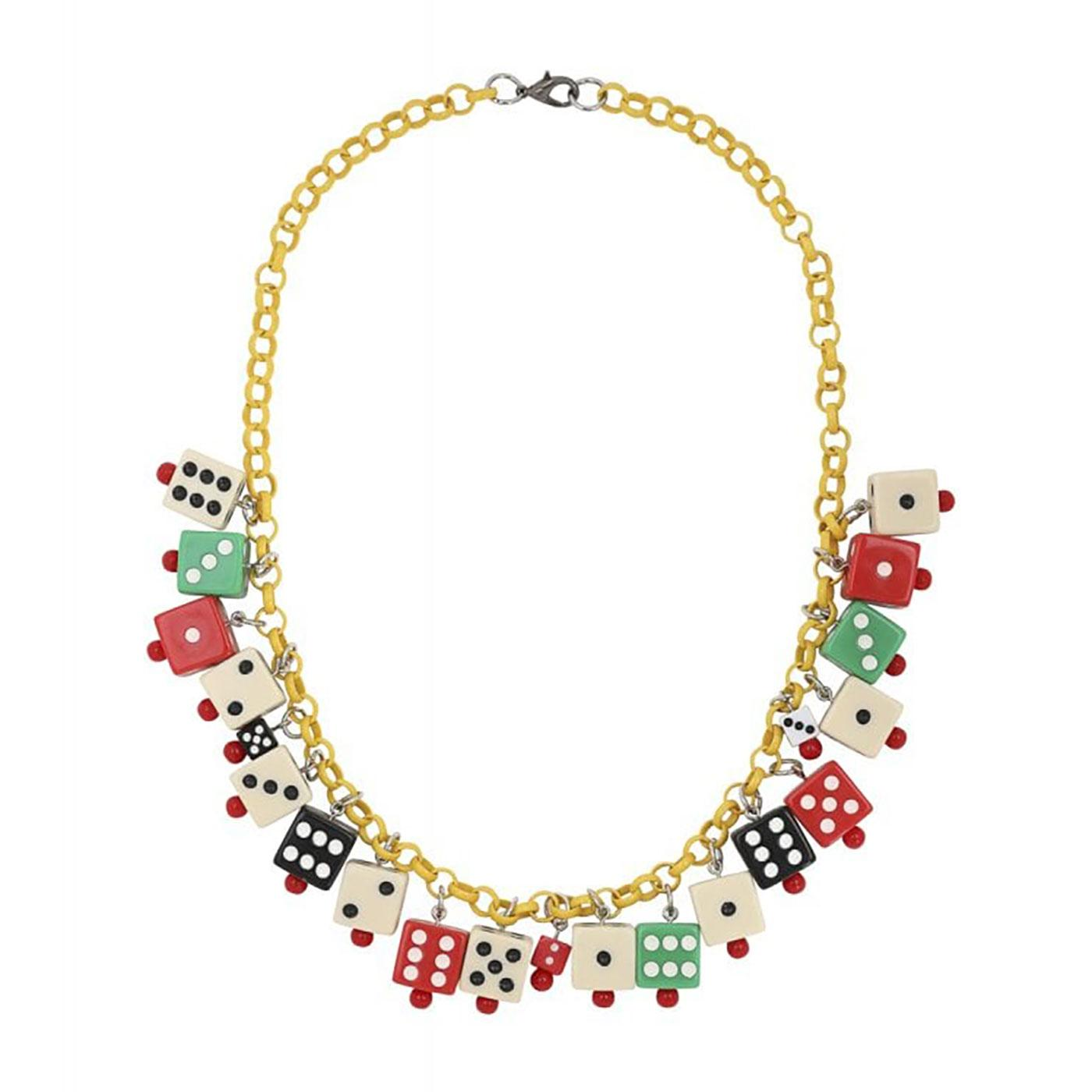 Vegas 40s Dices COLLECTIF Vintage Dice Necklace