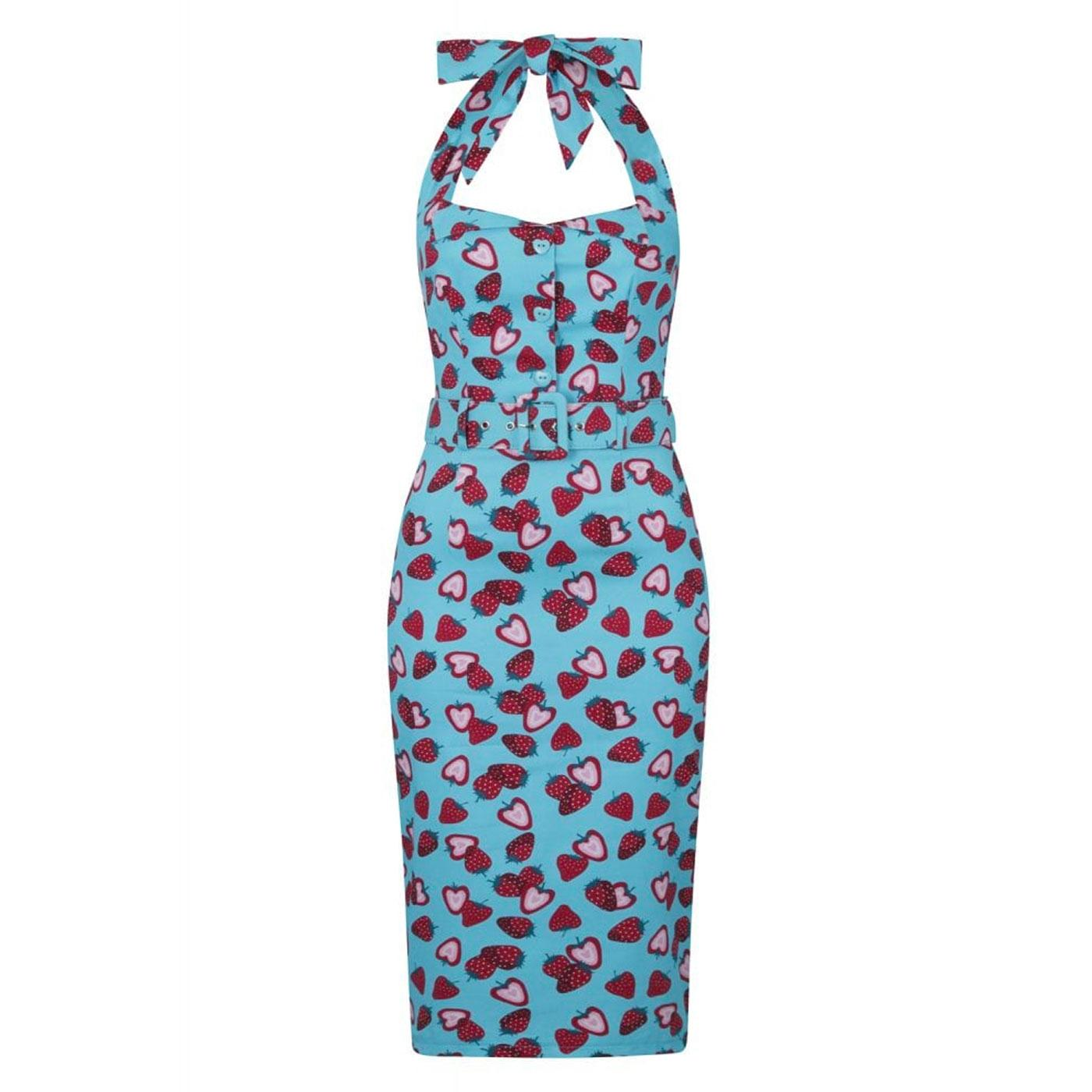 Wanda COLLECTIF 50s Strawberry Print Pencil Dress
