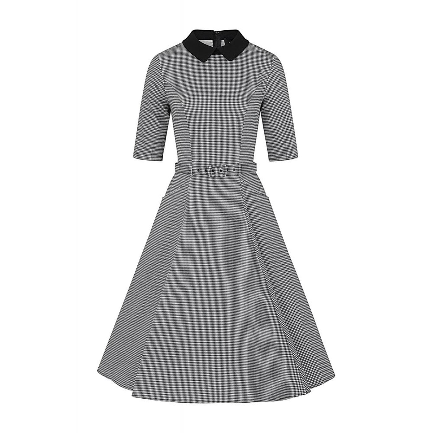 Winona COLLECTIF Houndstooth 1950s Swing Dress