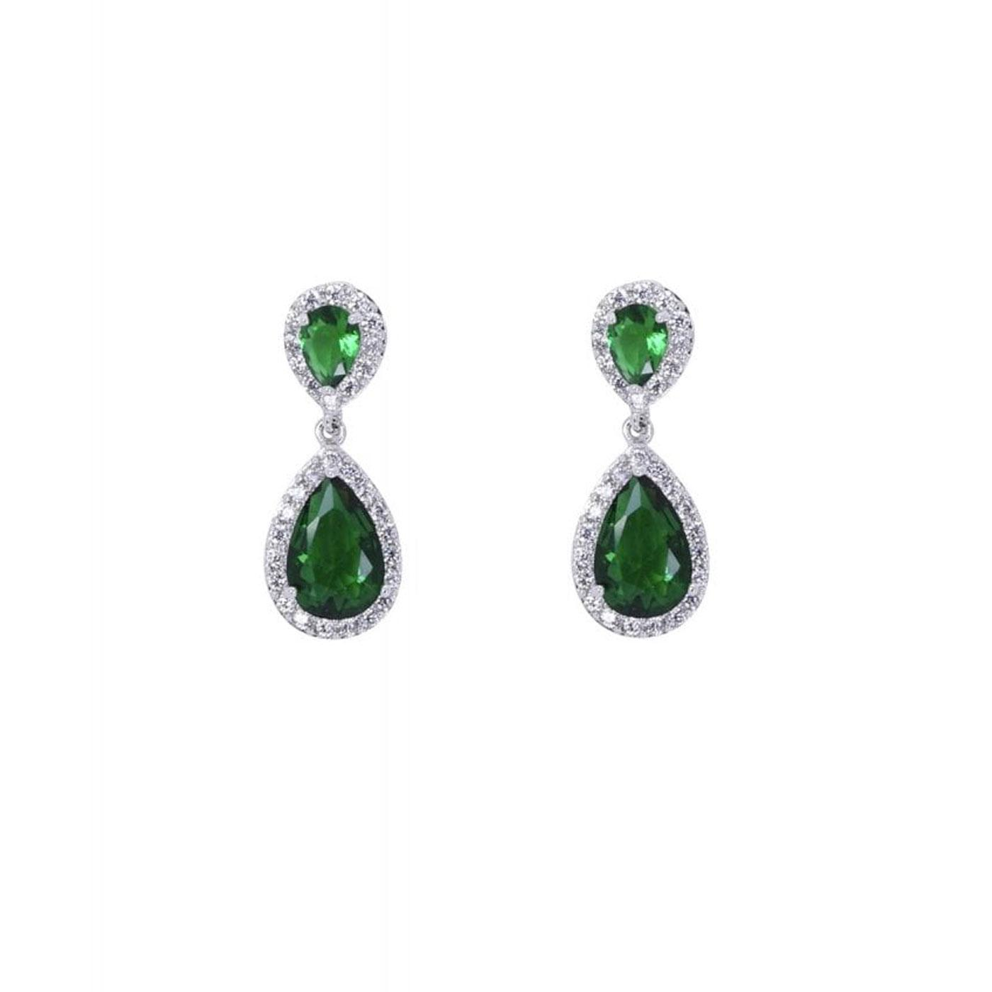 + Yvonne COLLECTIF Gem Drop Earrings In Green