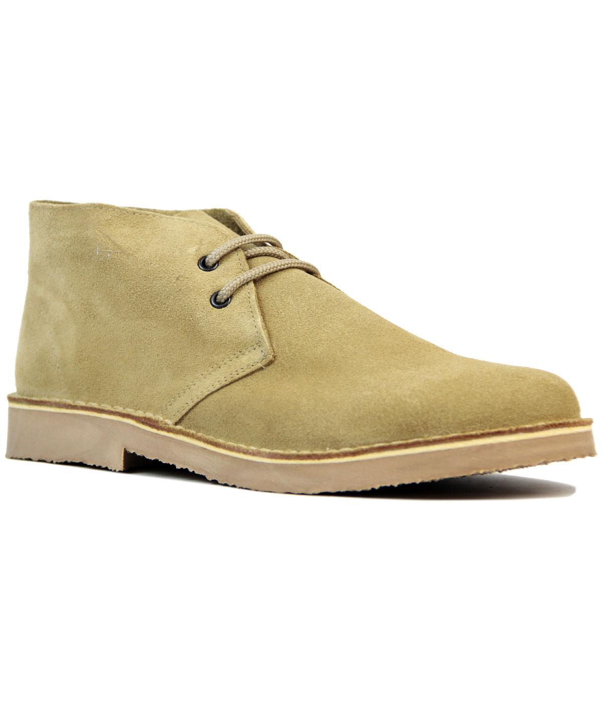 Cooper Men's Retro Mod Indie Desert Boots in Camel