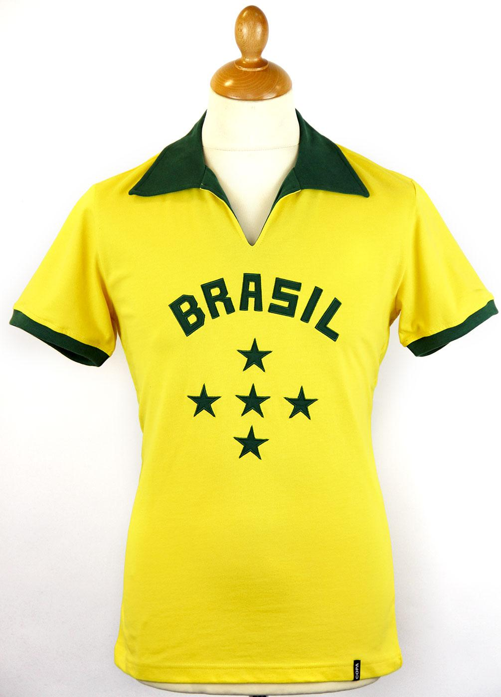 Brazil COPA Retro 1960s Indie Football Shirt (Y)