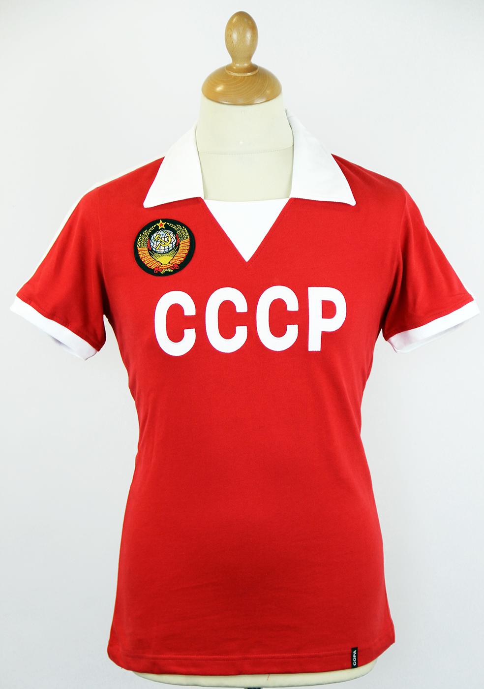 CCCP COPA Retro 1970s USSR Football Shirt (R/W)