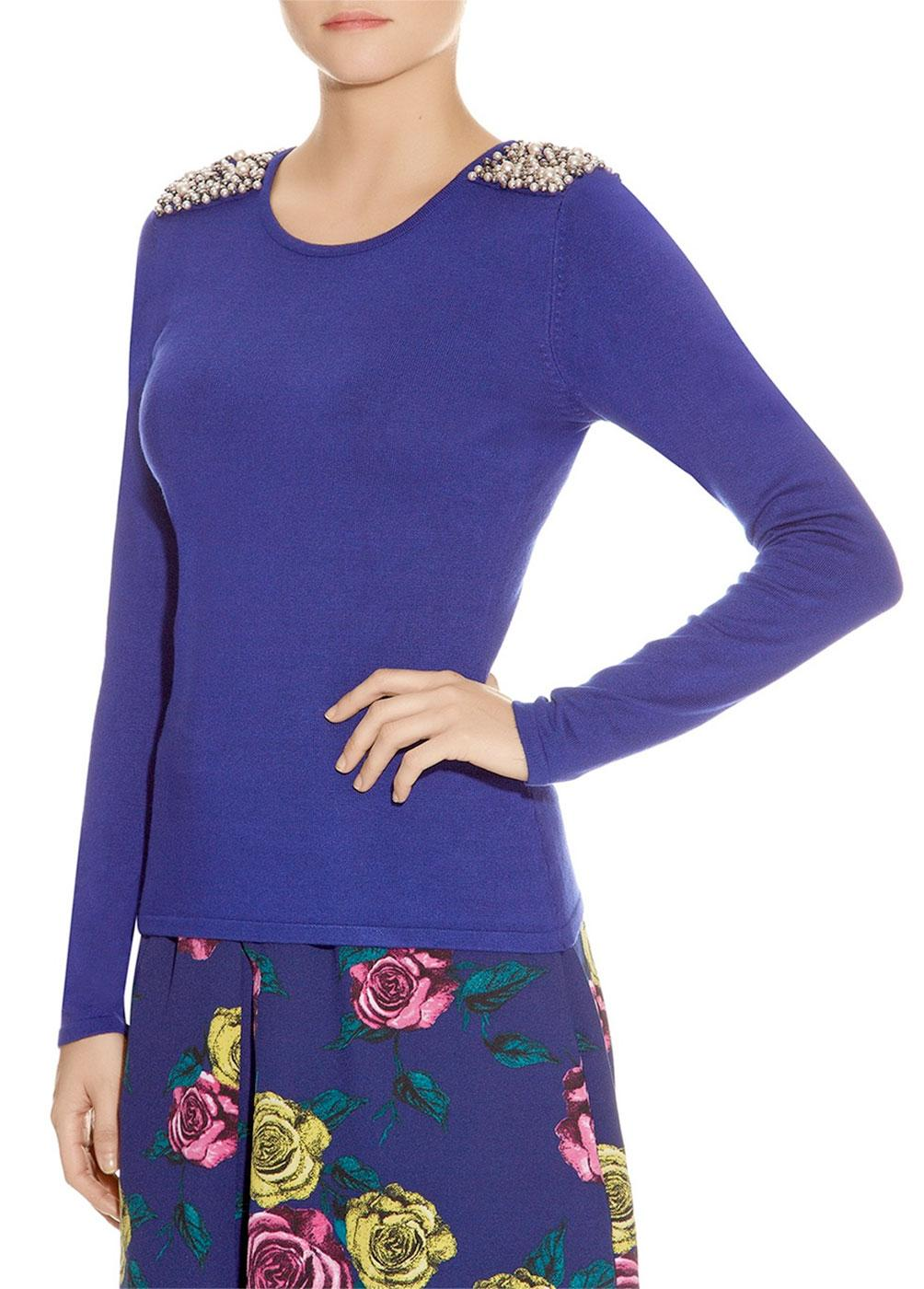 Angy DARLING Retro Jumper with Beading to Shoulder