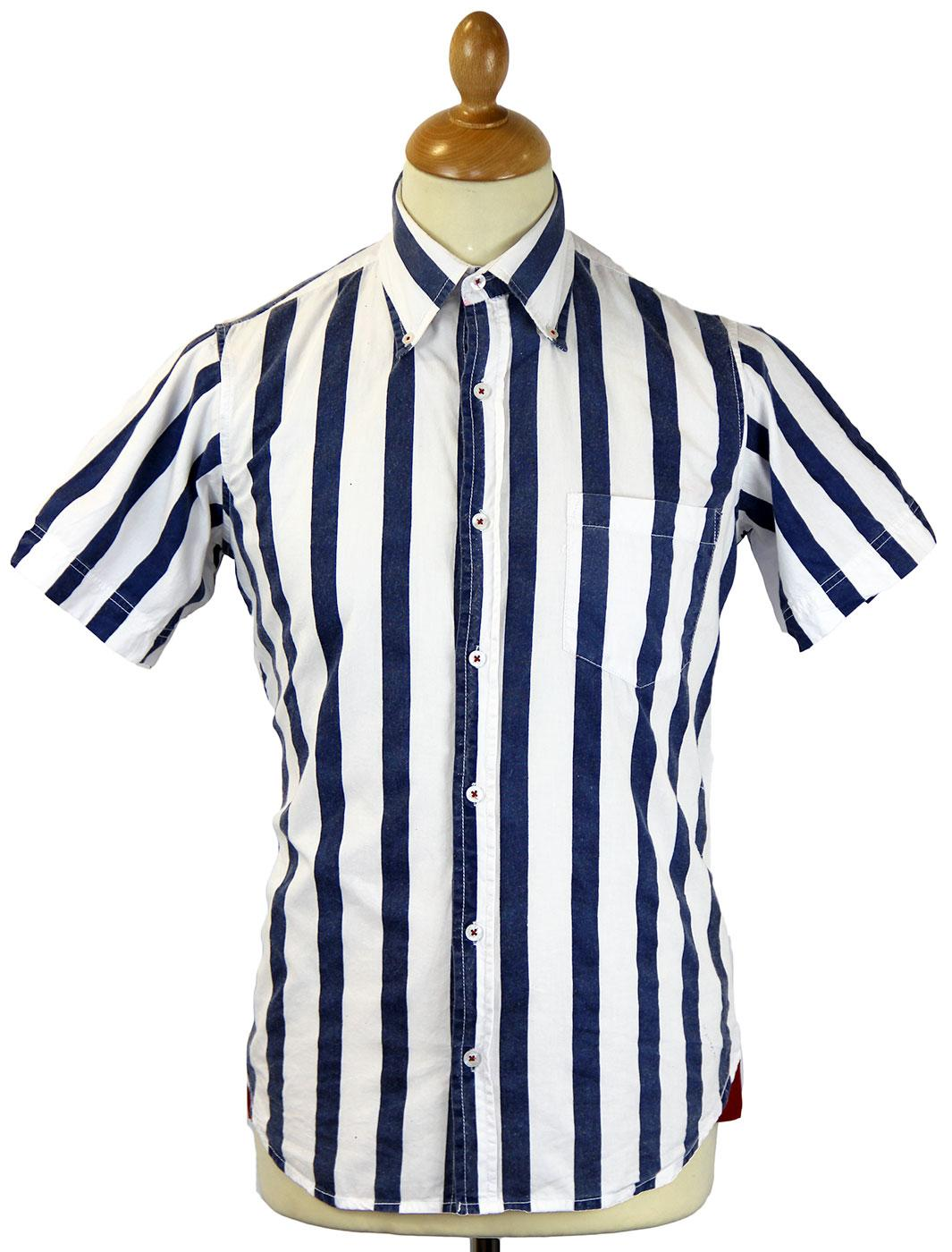 Denton DAVID WATTS Retro Mod Thick Stripe Shirt B