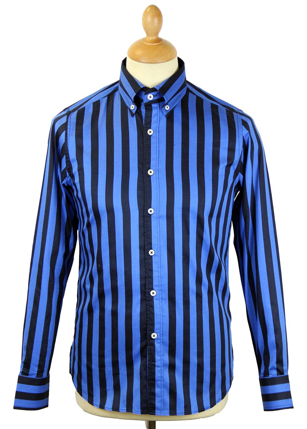Maddock DAVID WATTS Retro Mod Block Stripe Shirt