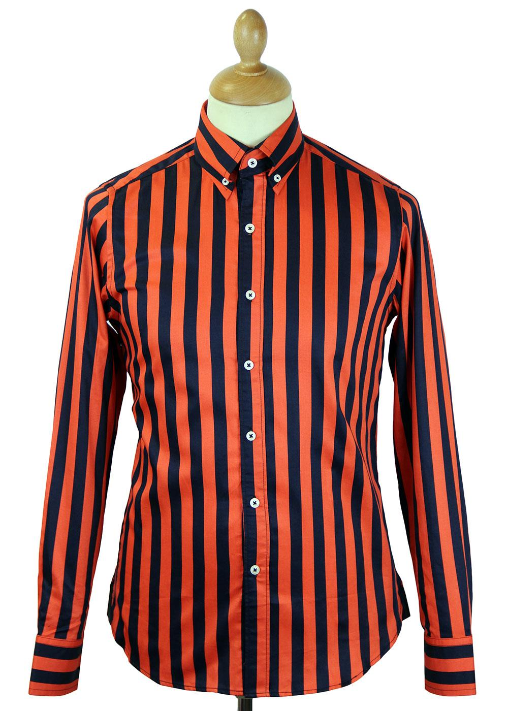 Ashley DAVID WATTS Retro Mod Block Stripe Shirt NO