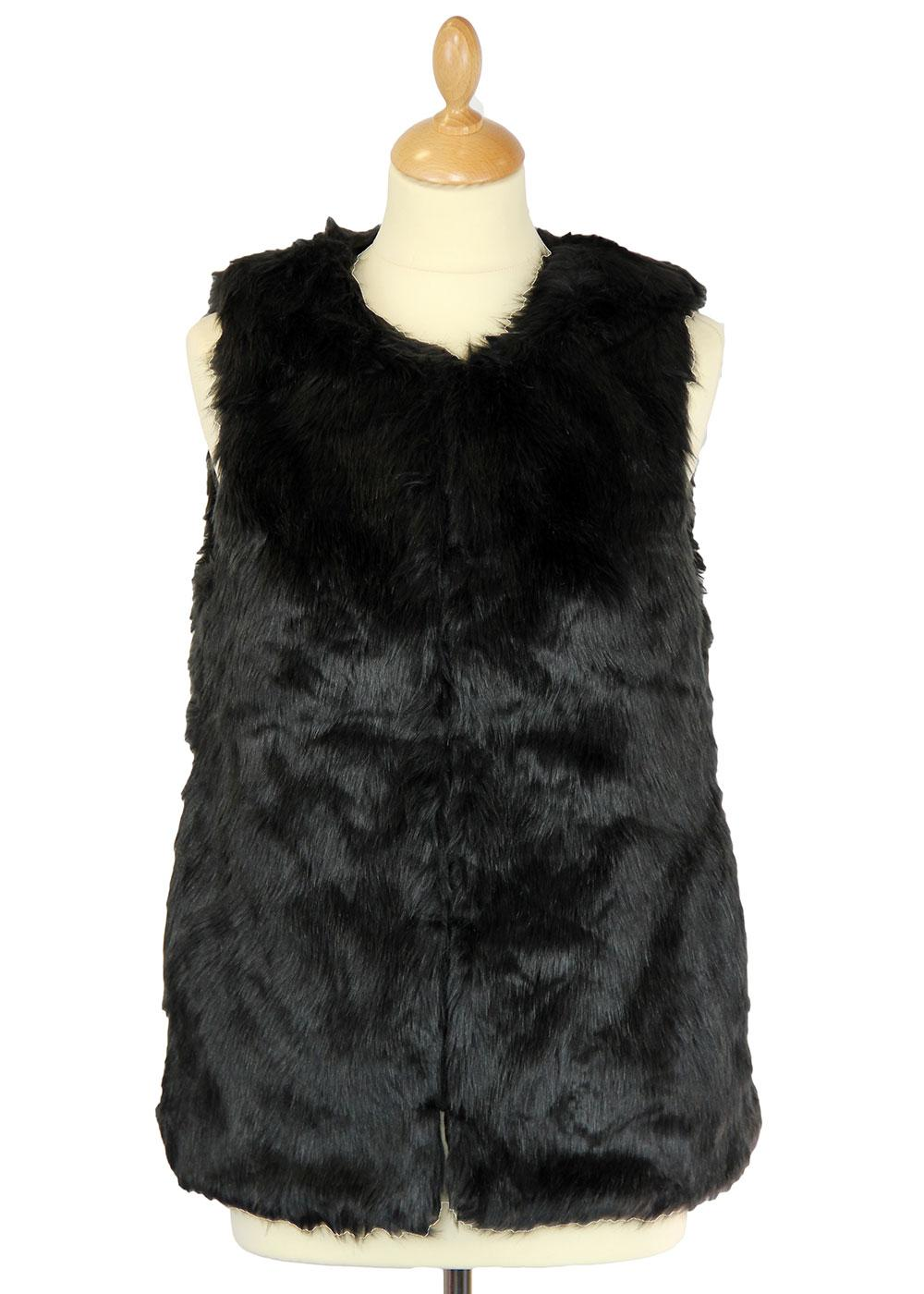 Texas DESIGNER DUCHESS Retro 60s Faux Fur Gilet