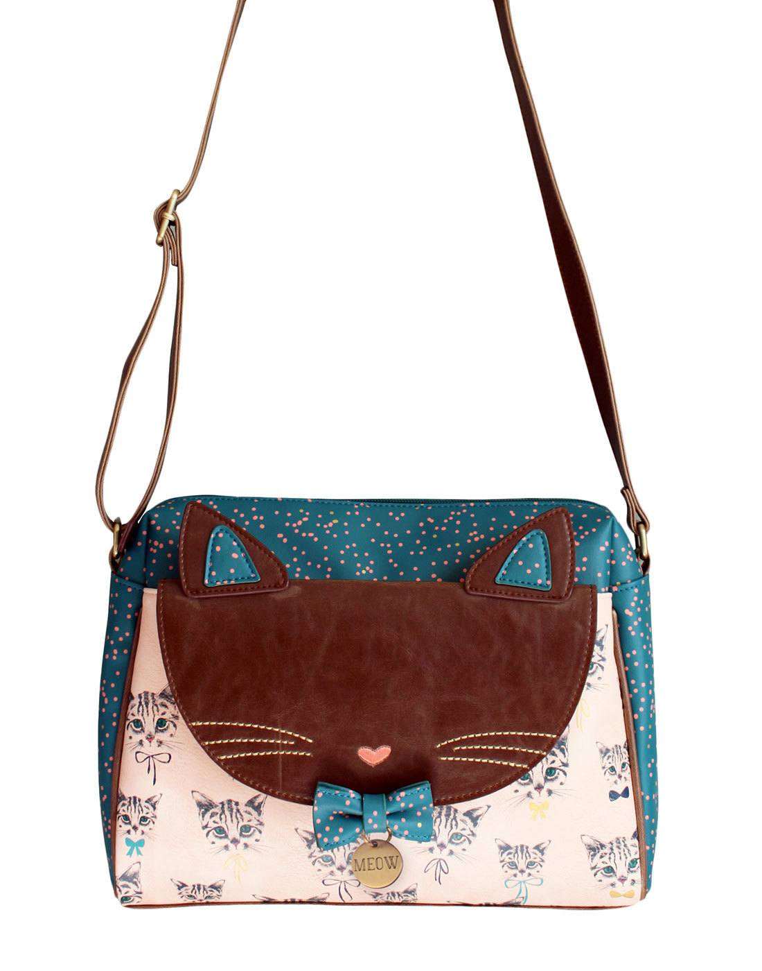 Meow Kitty DISASTER DESIGNS Retro Shoulder Bag