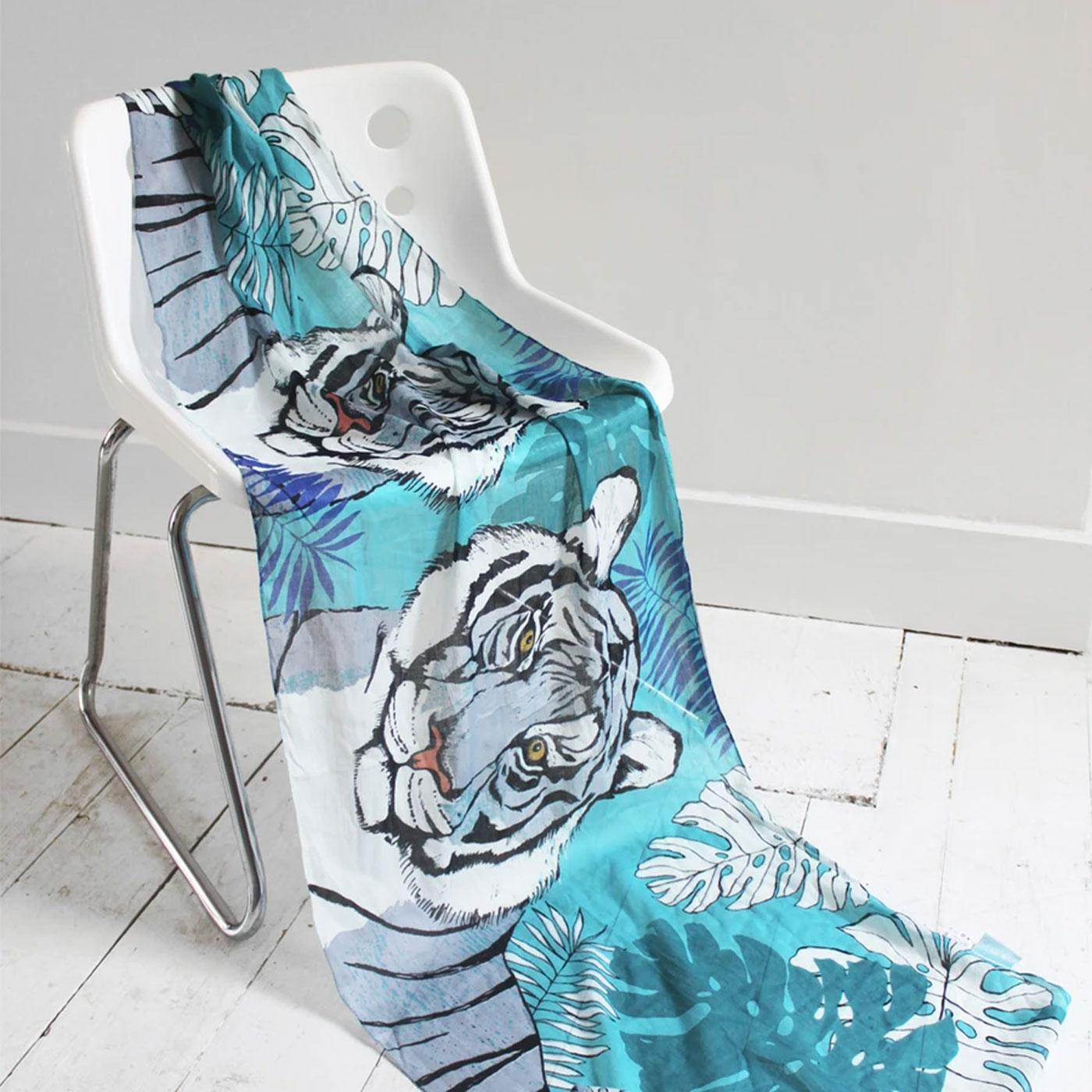 DISASTER DESIGNS Into The Wild Tiger Print Scarf