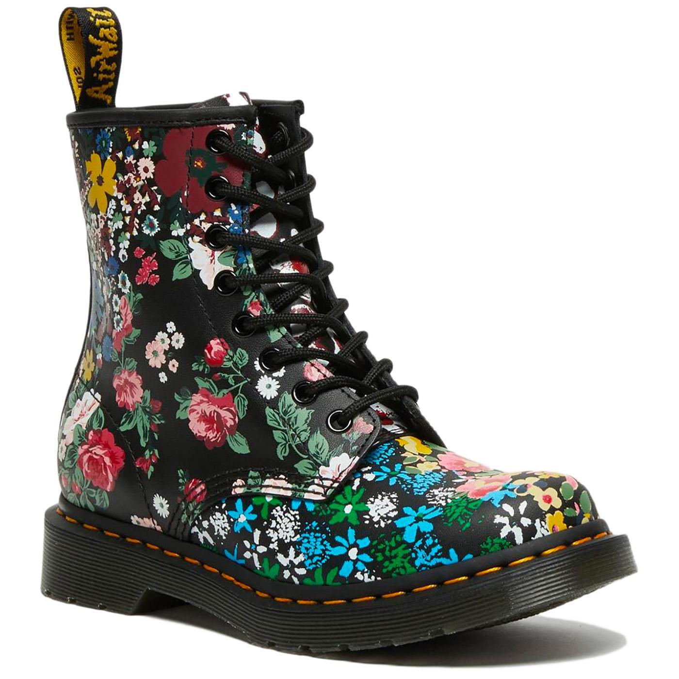 DR MARTENS 1460 Pascal Retro Floral Mash Up Boots
