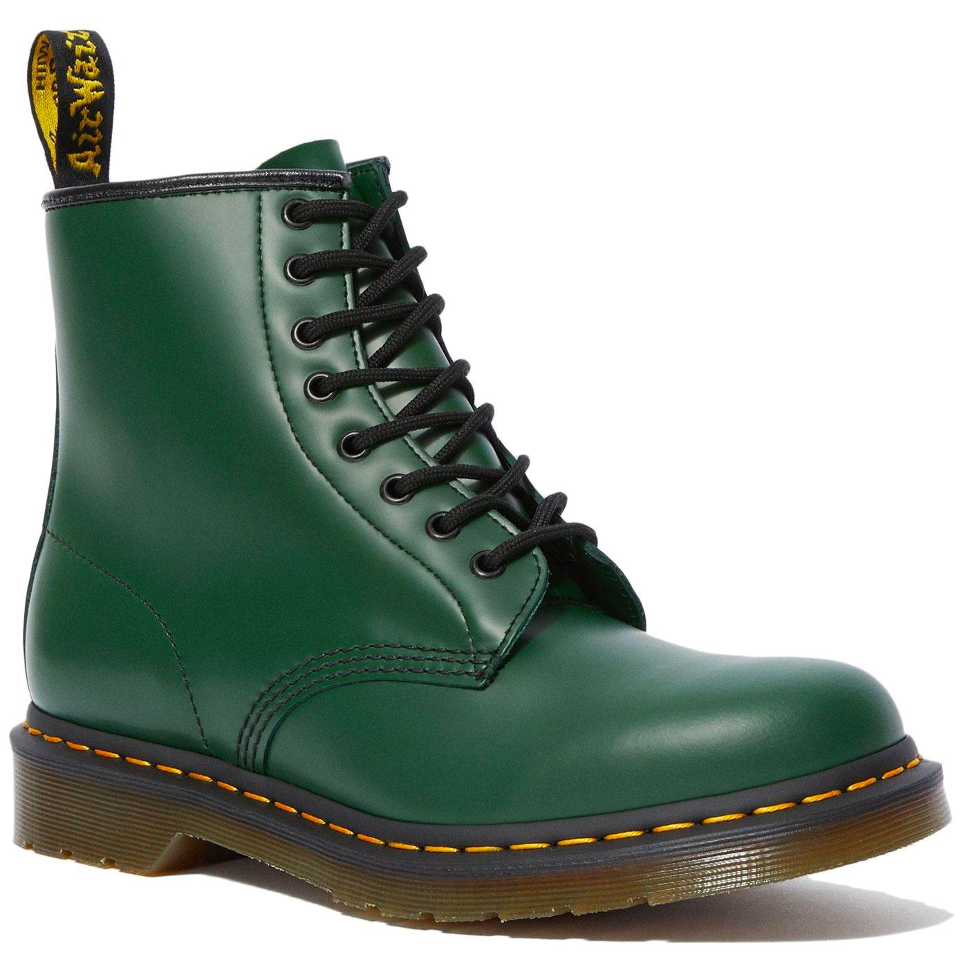 1460 Smooth DR MARTENS Men's Green Mod Boots