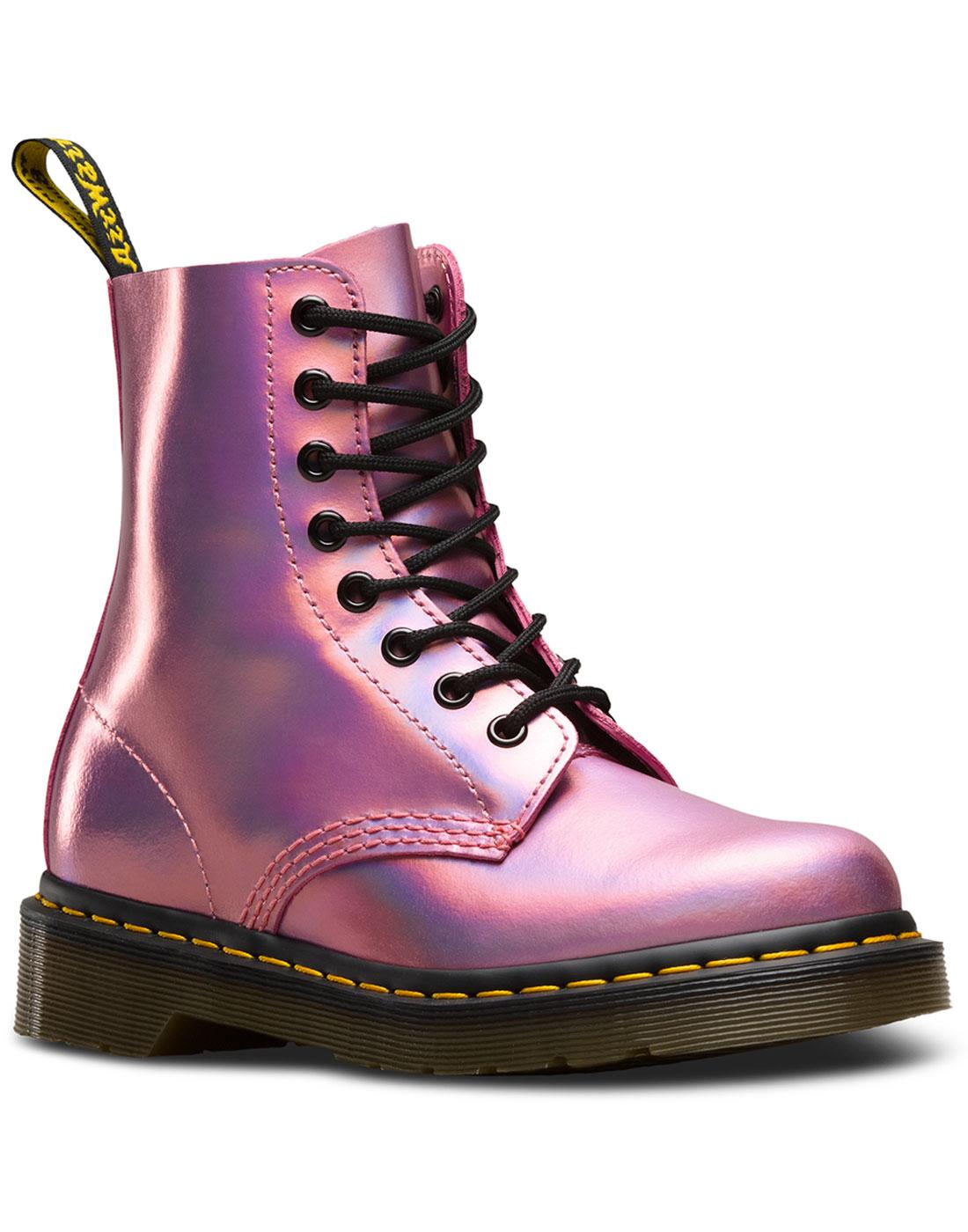 DR MARTENS 1460 Pascal Iced Metallic 70s Glam Boots Pink