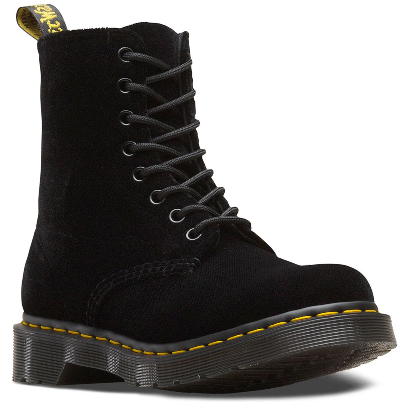 1460 Pascal Velvet DR MARTENS WOMENS Boots Black
