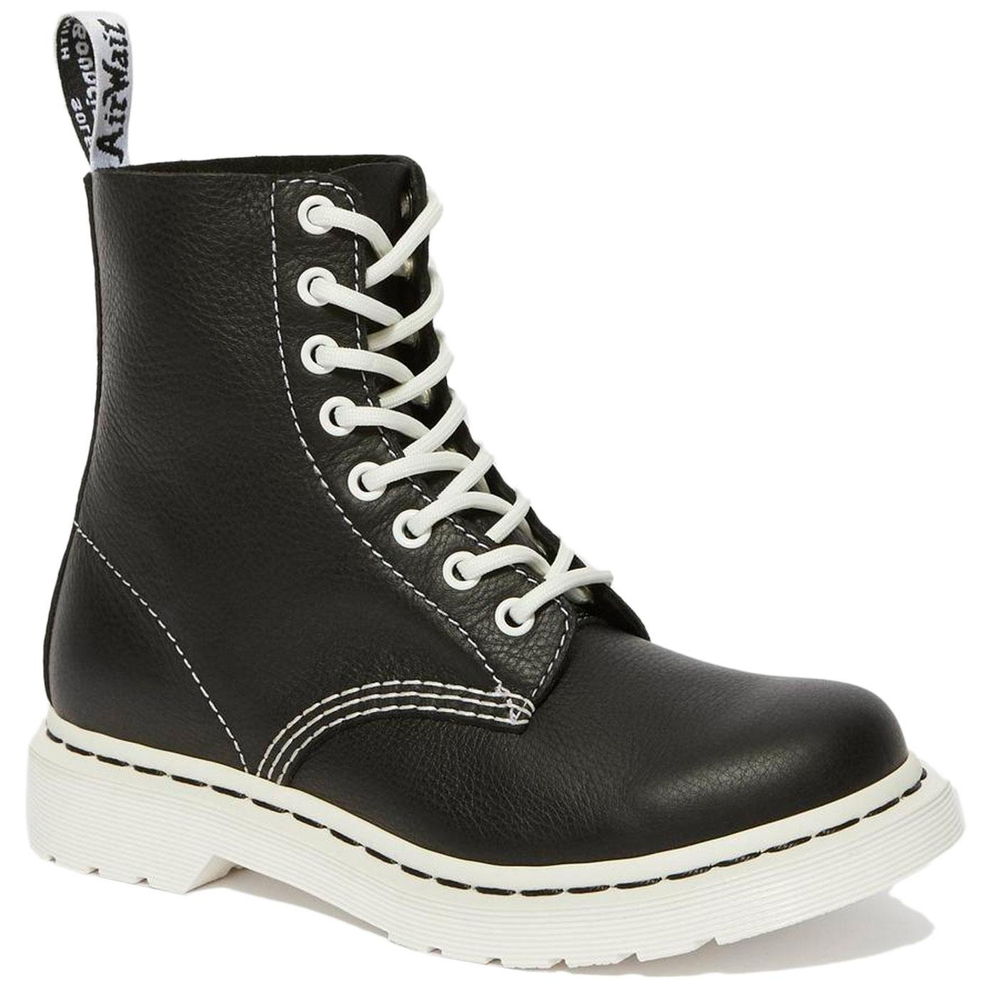 1460 Pascal DR MARTENS Black & White Ankle Boots