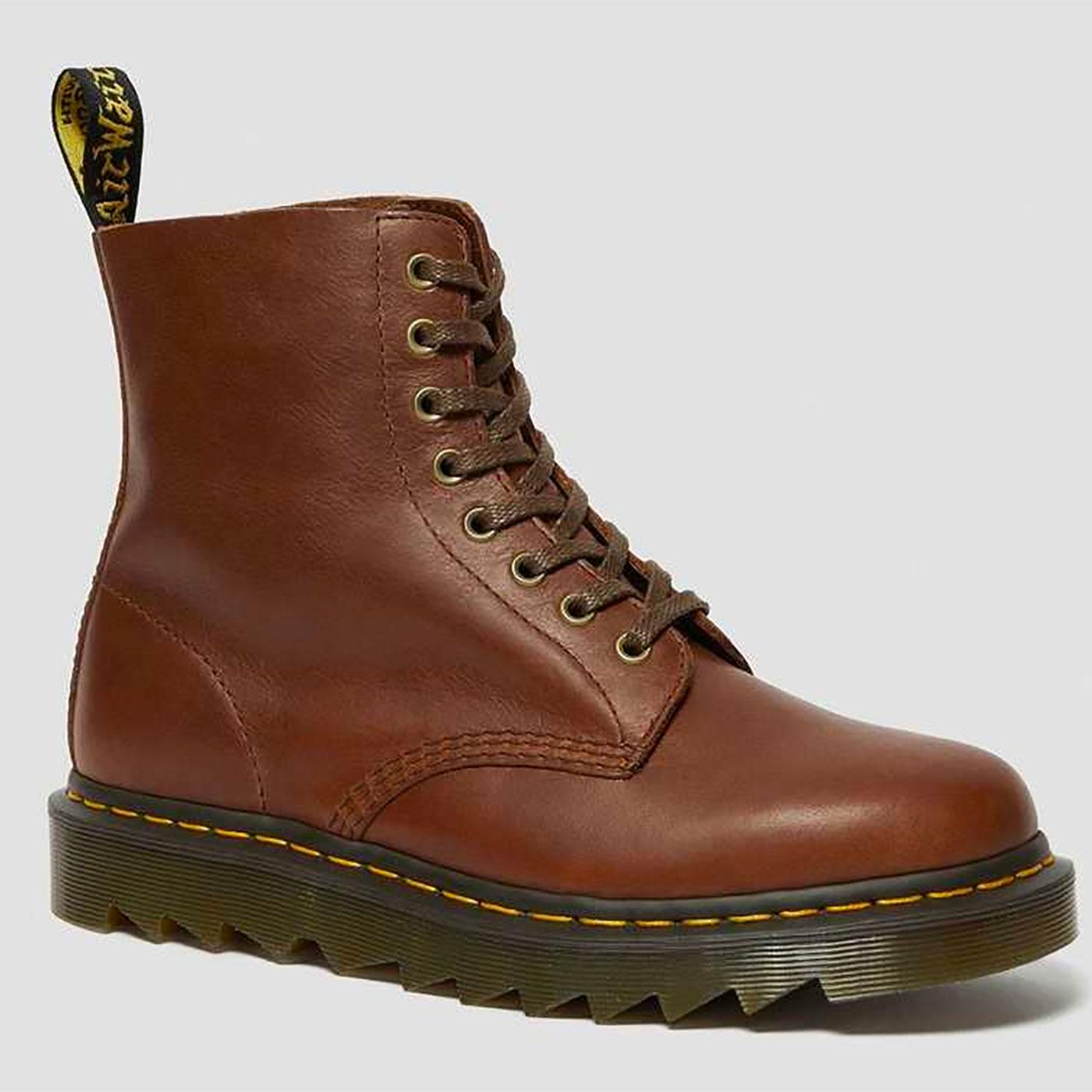 DR MARTENS 1460 Pascal Ziggy 8 Eyelet Boots (Tan)