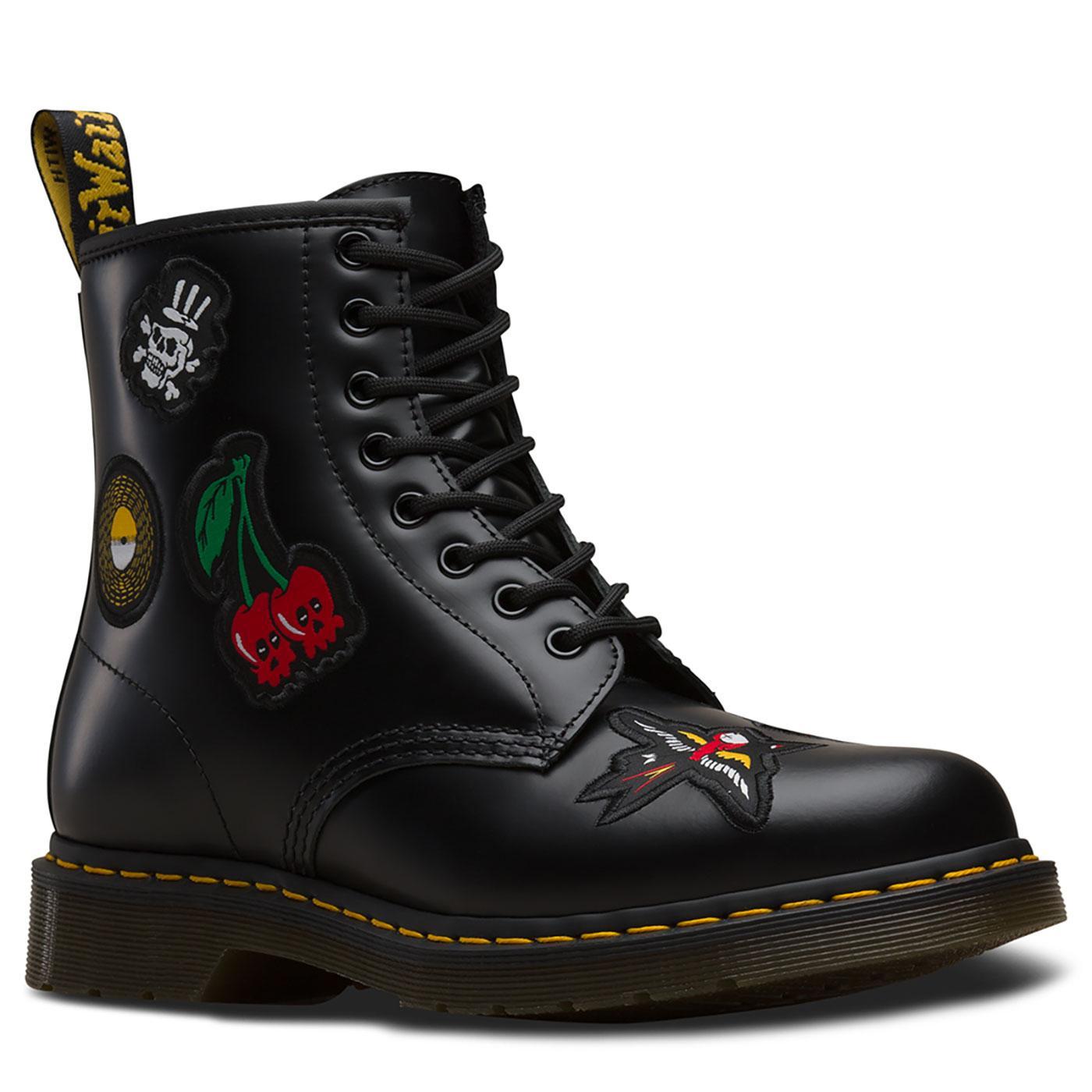 1460 Patch DR MARTENS Retro 70's Punk Rock Boots