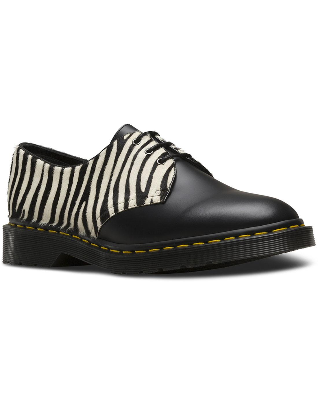 1461 DR MARTENS Retro 70s Faux Zebra Hair Shoes
