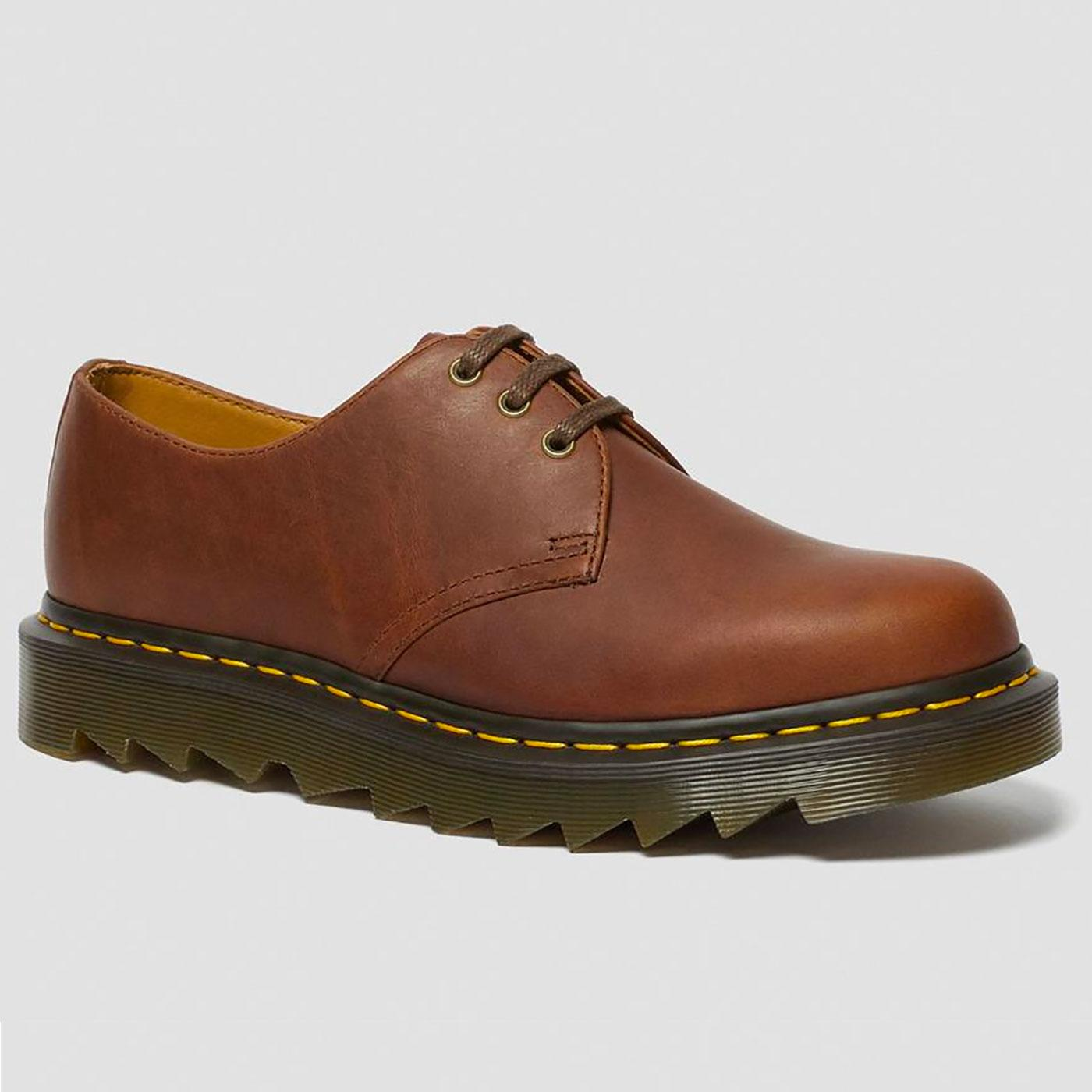 DR MARTENS 1461 Ziggy 3 Eyelet Shoes (Tan Luxor)