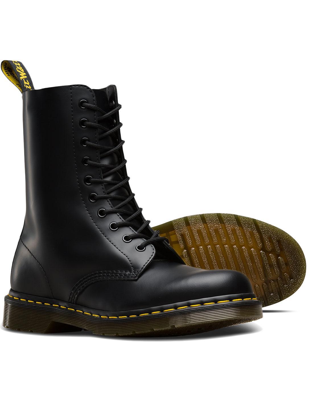 intermittent Peddling except for  DR MARTENS 1490 Smooth Men's Mod 10 Eyelet Boots Black