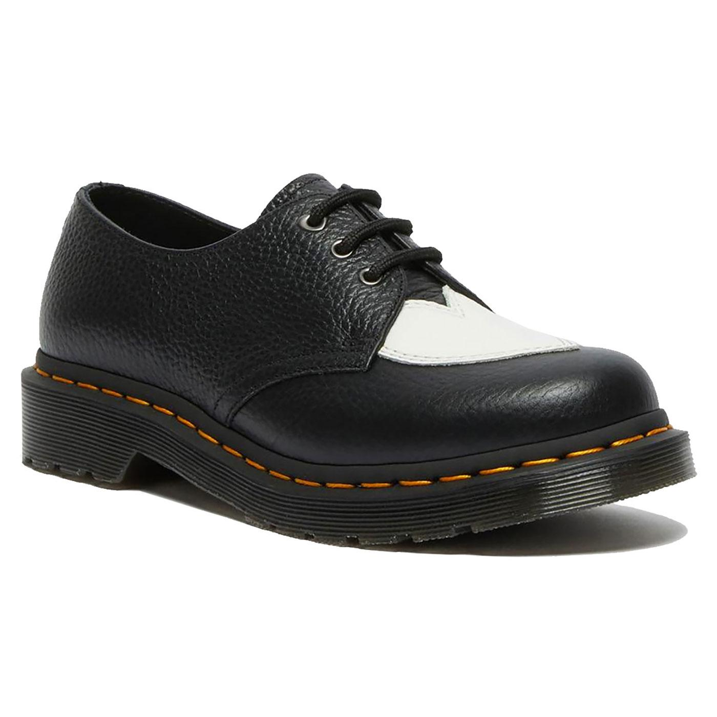 1461 Amore DR MARTENS Heart Patch Oxford Shoes B/W
