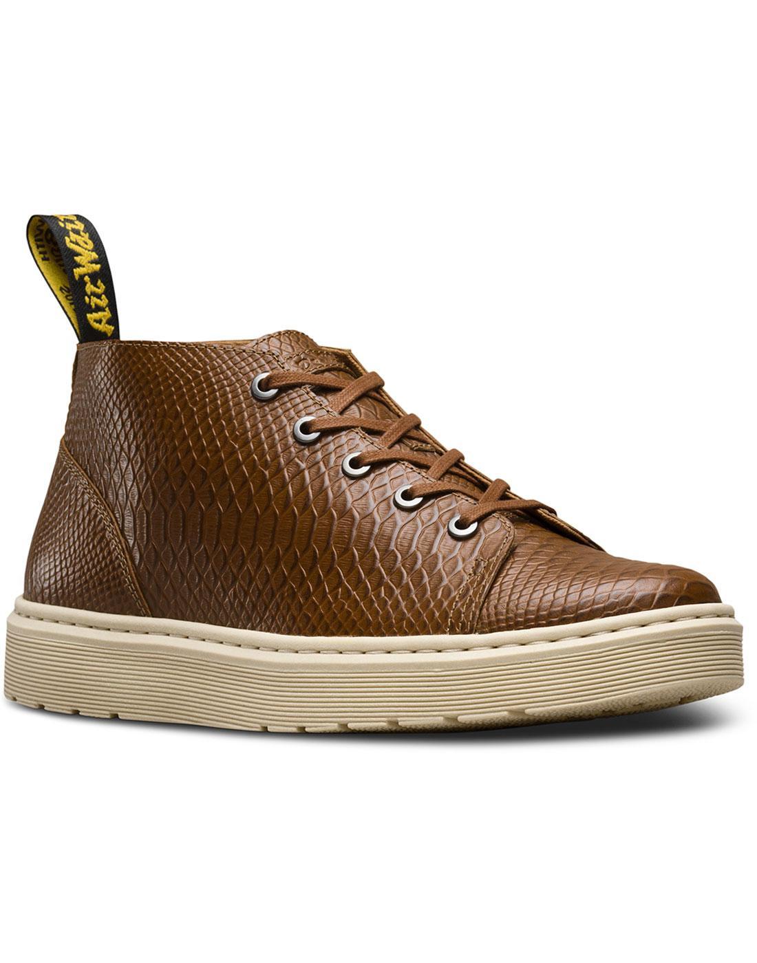 Baynes DR MARTENS Python Embossed Chukka Boots TAN