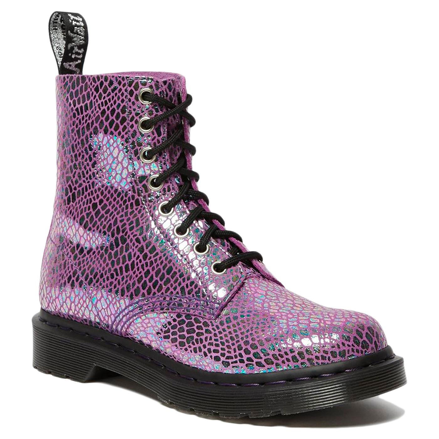 1460 Pascal DR MARTENS Snake Metallic Suede Boots