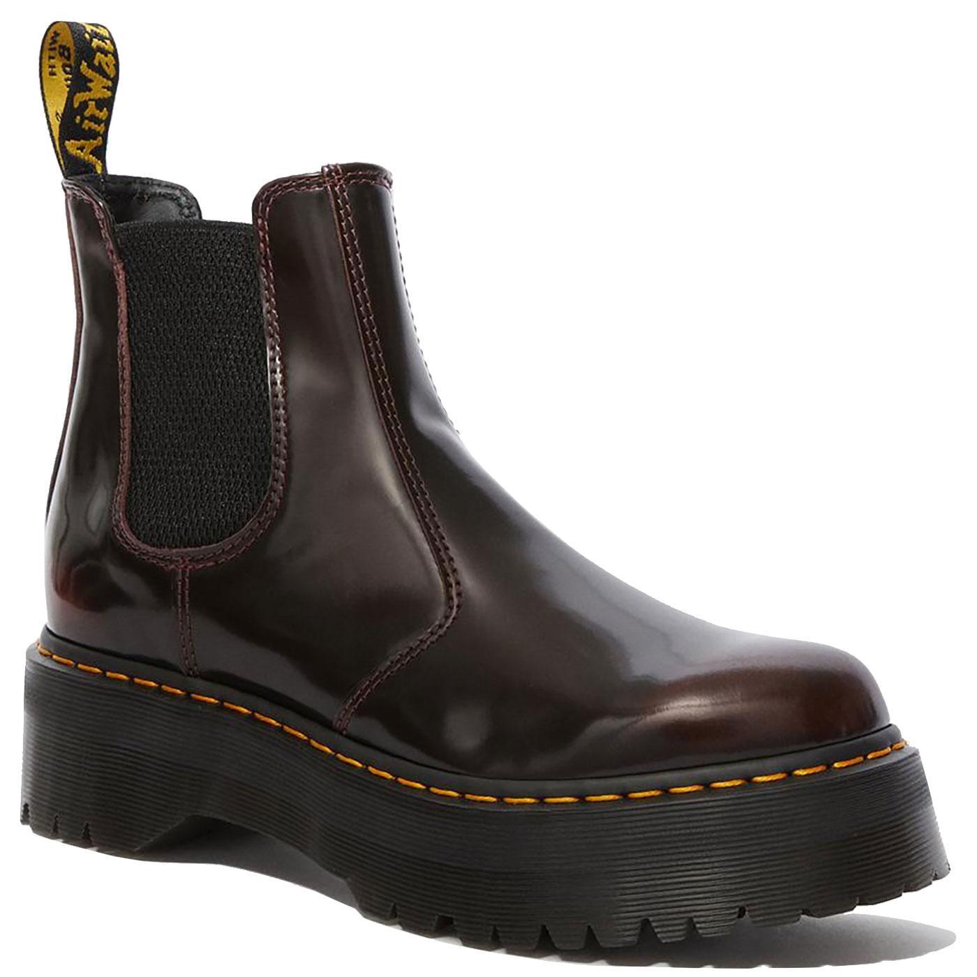 2976 Quad DR MARTENS Women's Platform Boots CHERRY