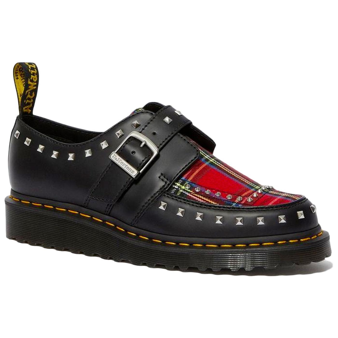 Ramsey DR MARTENS Punk Tartan Creeper Monk Shoes