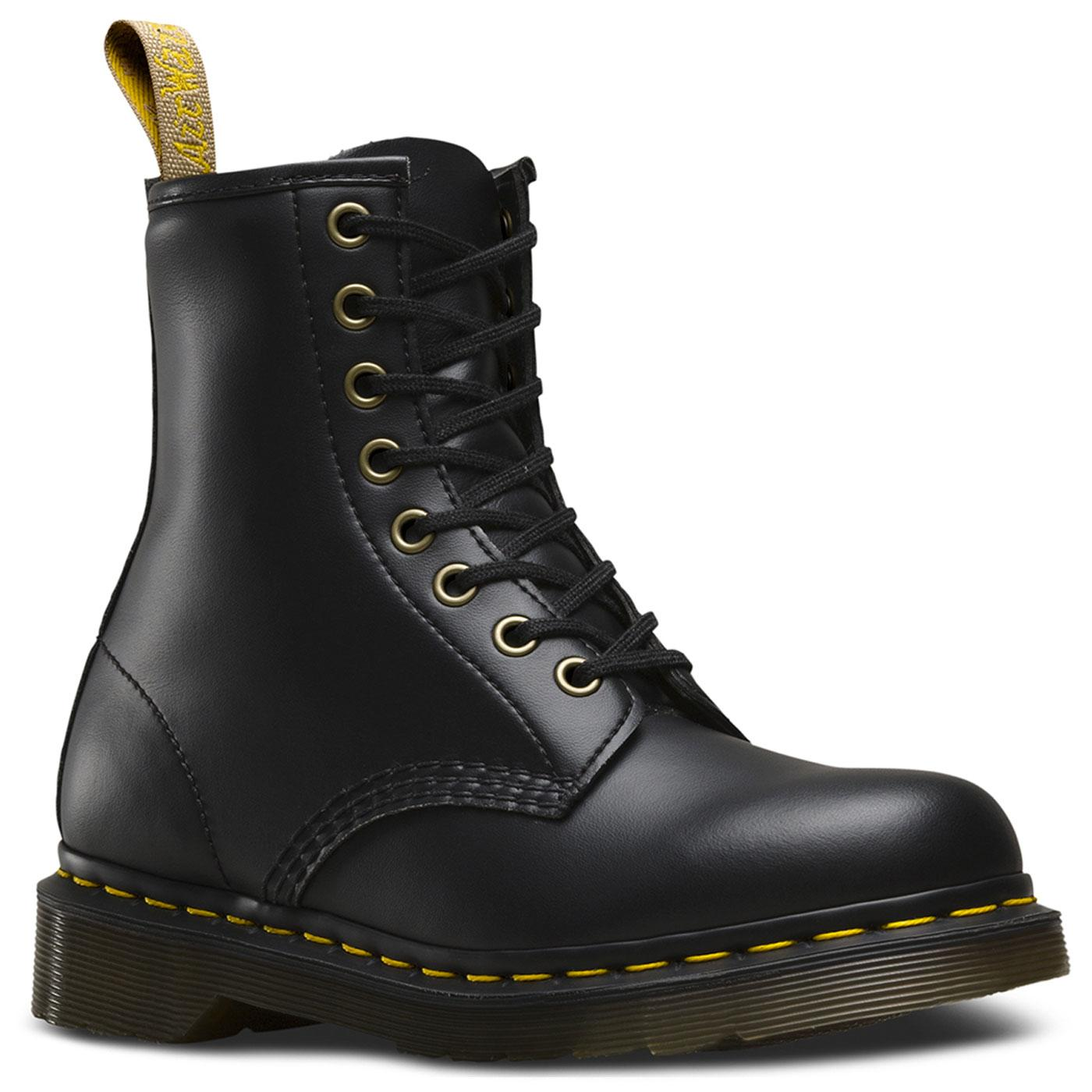 Vegan 1460 DR MARTENS Vintage Felix Rub Off Black