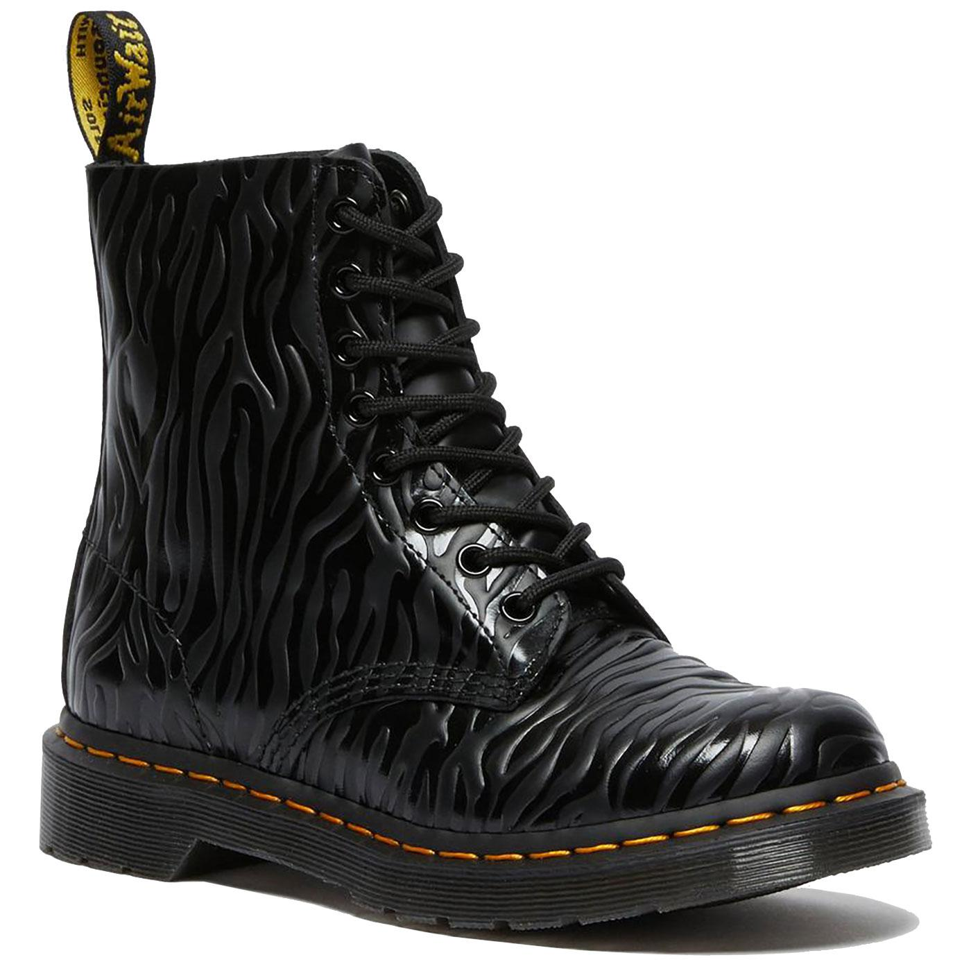 1460 Pascal DR MARTENS Zebra Embossed Gloss Boots