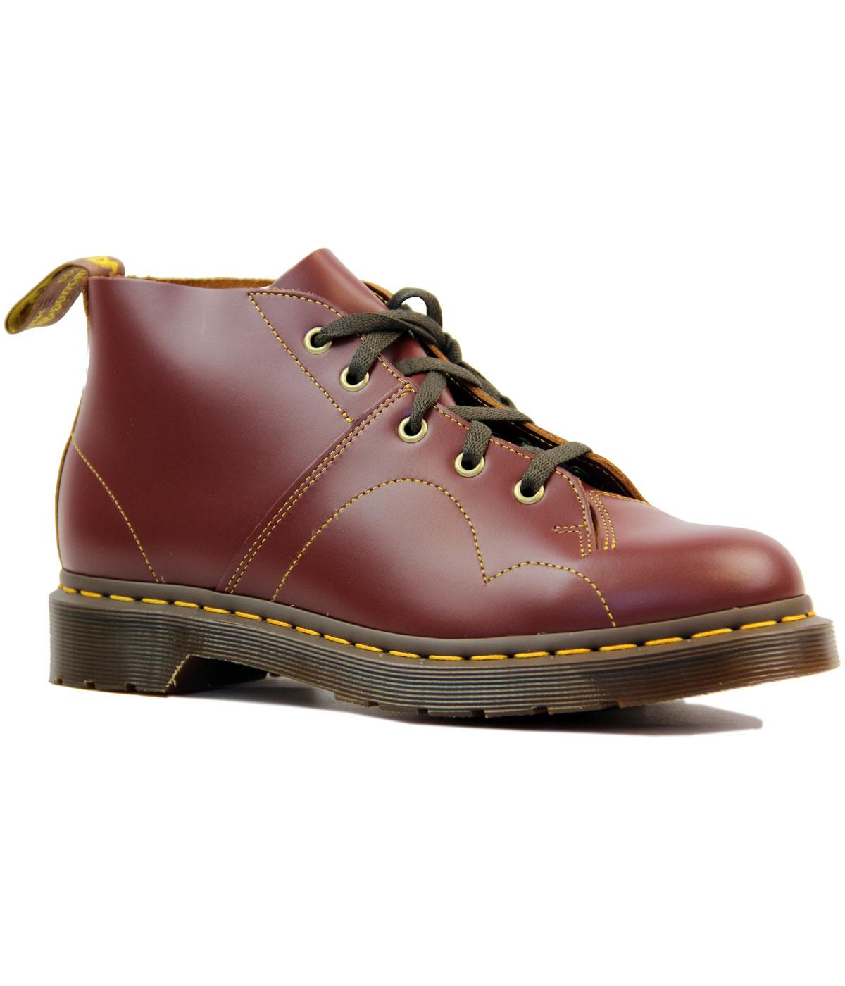 difficile zattera omicidio  Dr Martens Church Retro Mod Smooth Leather Monkey Boots Oxblood