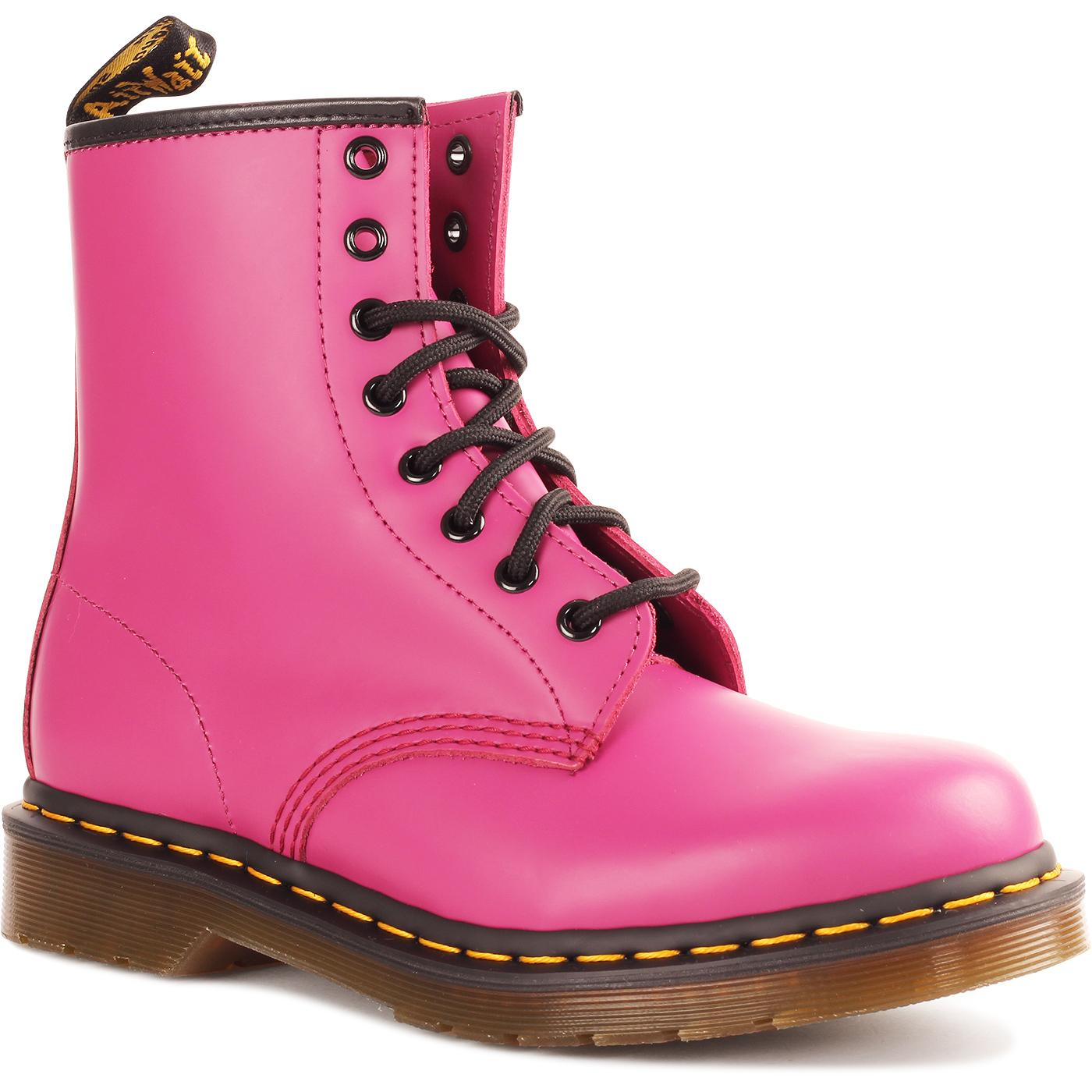 1460 DR MARTENS Retro Fuchsia Leather Ankle Boot