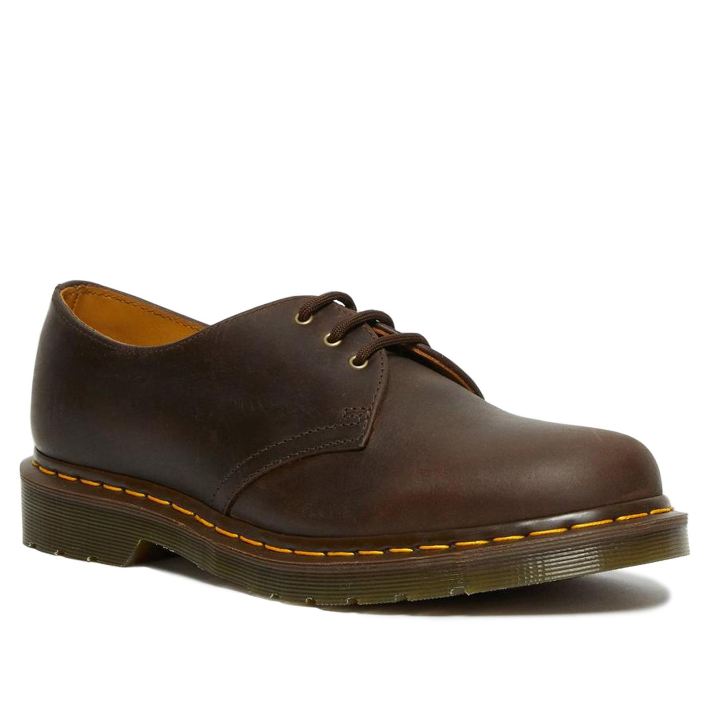 1461 Gaucho DR MARTENS Leather Oxford Shoes BROWN