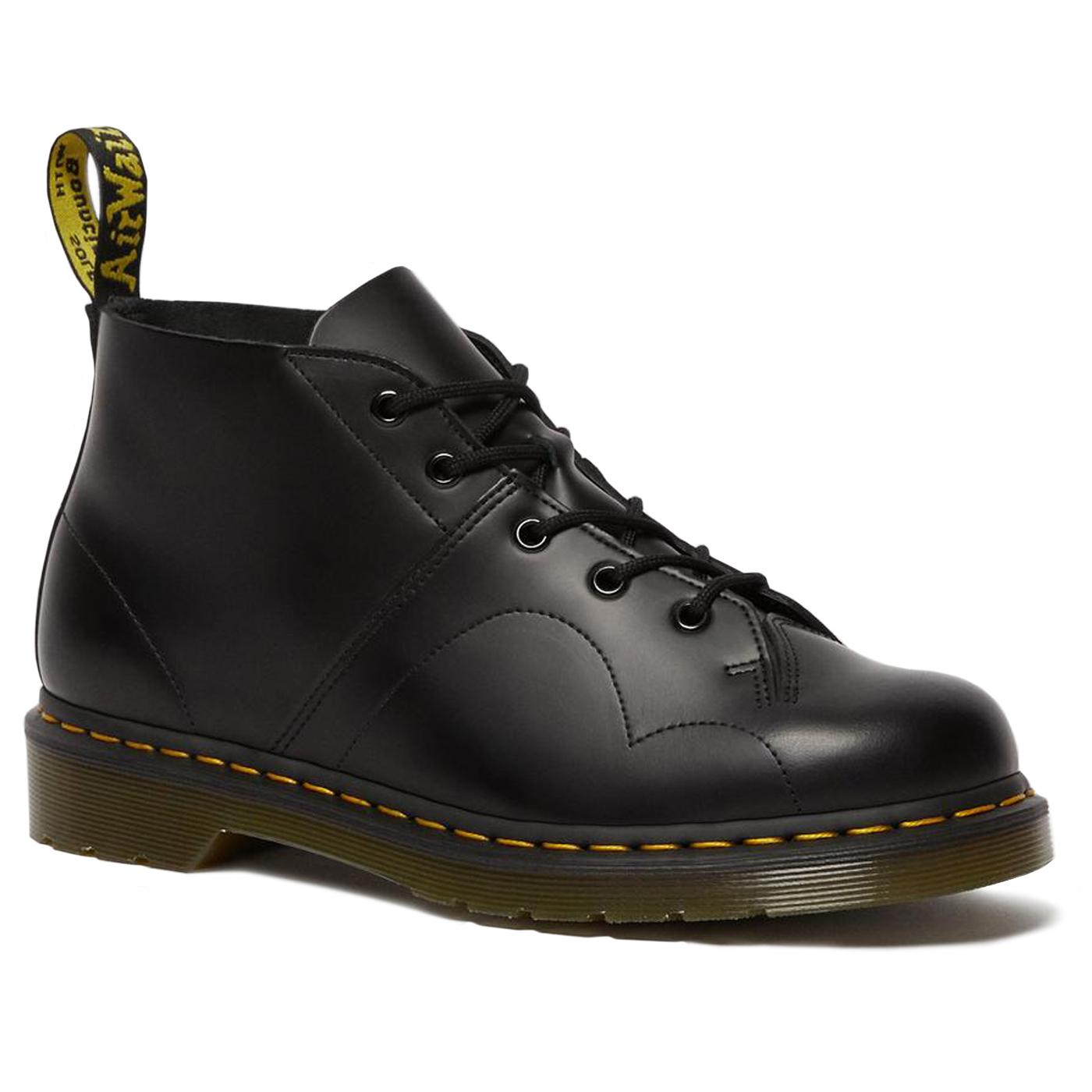 Church DR MARTENS Women's Retro Monkey Boots BLACK